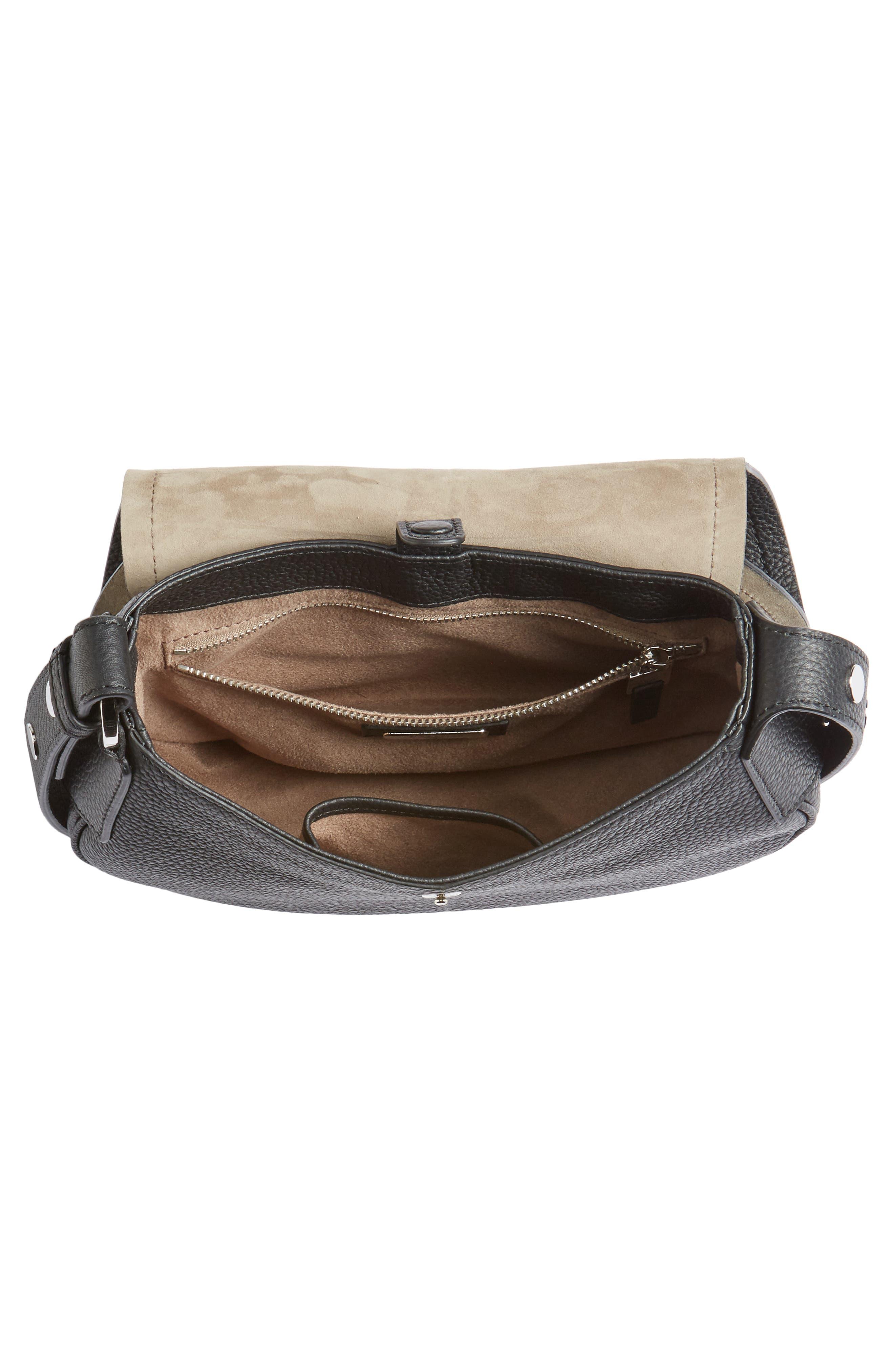 Mini Valeria Cachemire Leather Crossbody Bag,                             Alternate thumbnail 4, color,                             001