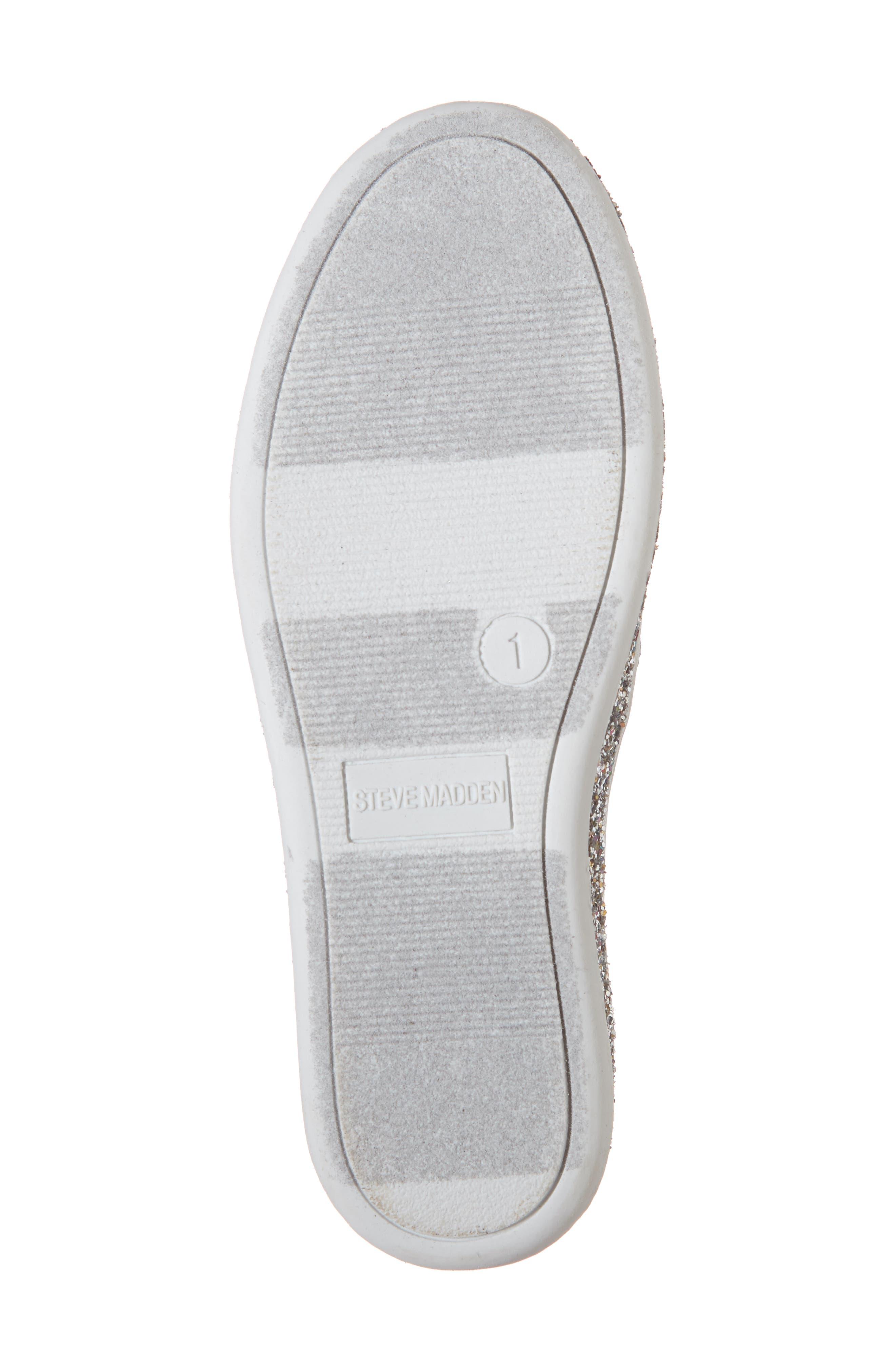 Jglorie Glitter Slip-On Sneaker,                             Alternate thumbnail 6, color,                             SILVER