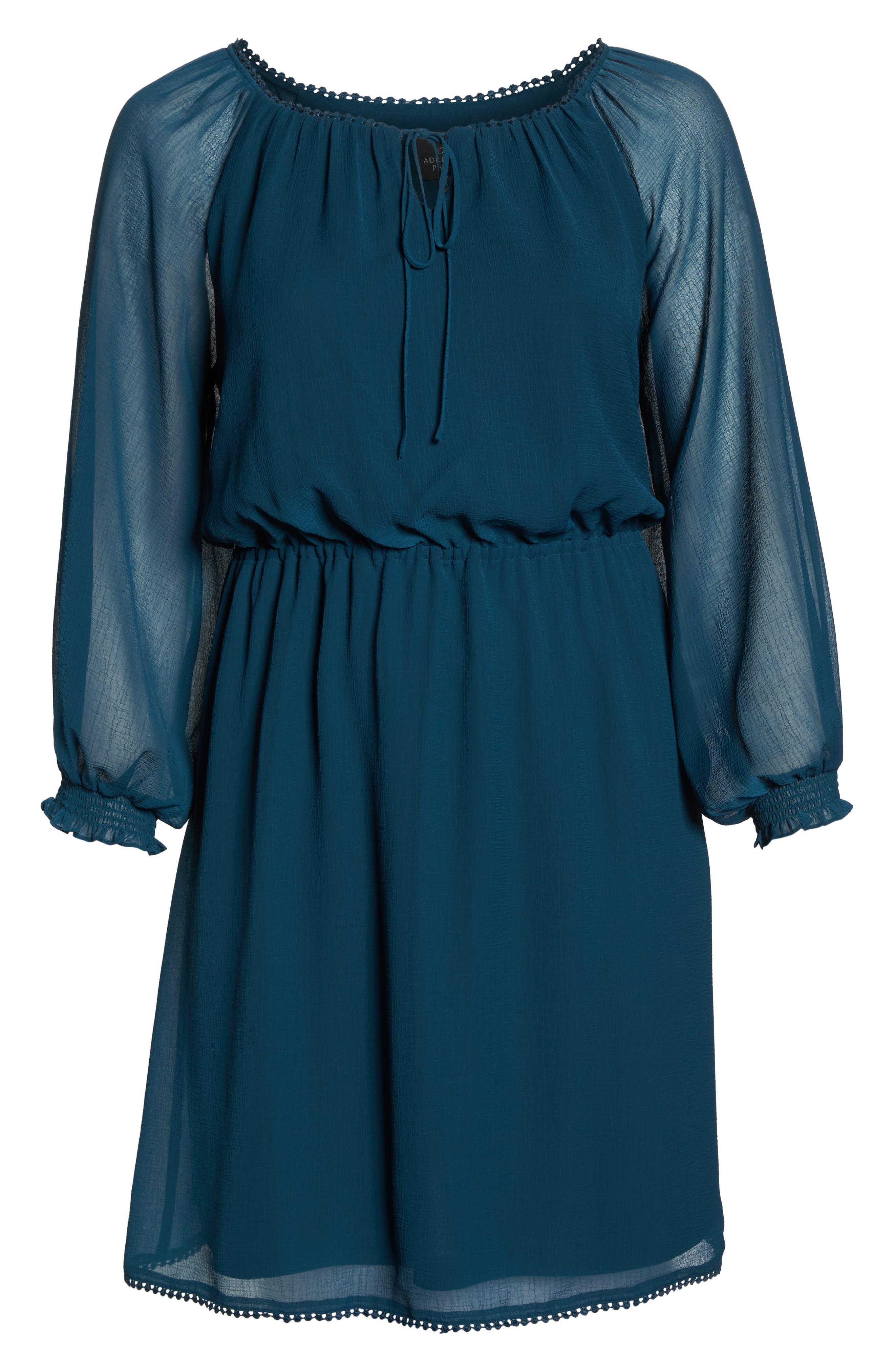 Bishop Sleeve Blouson Dress,                             Alternate thumbnail 7, color,                             471