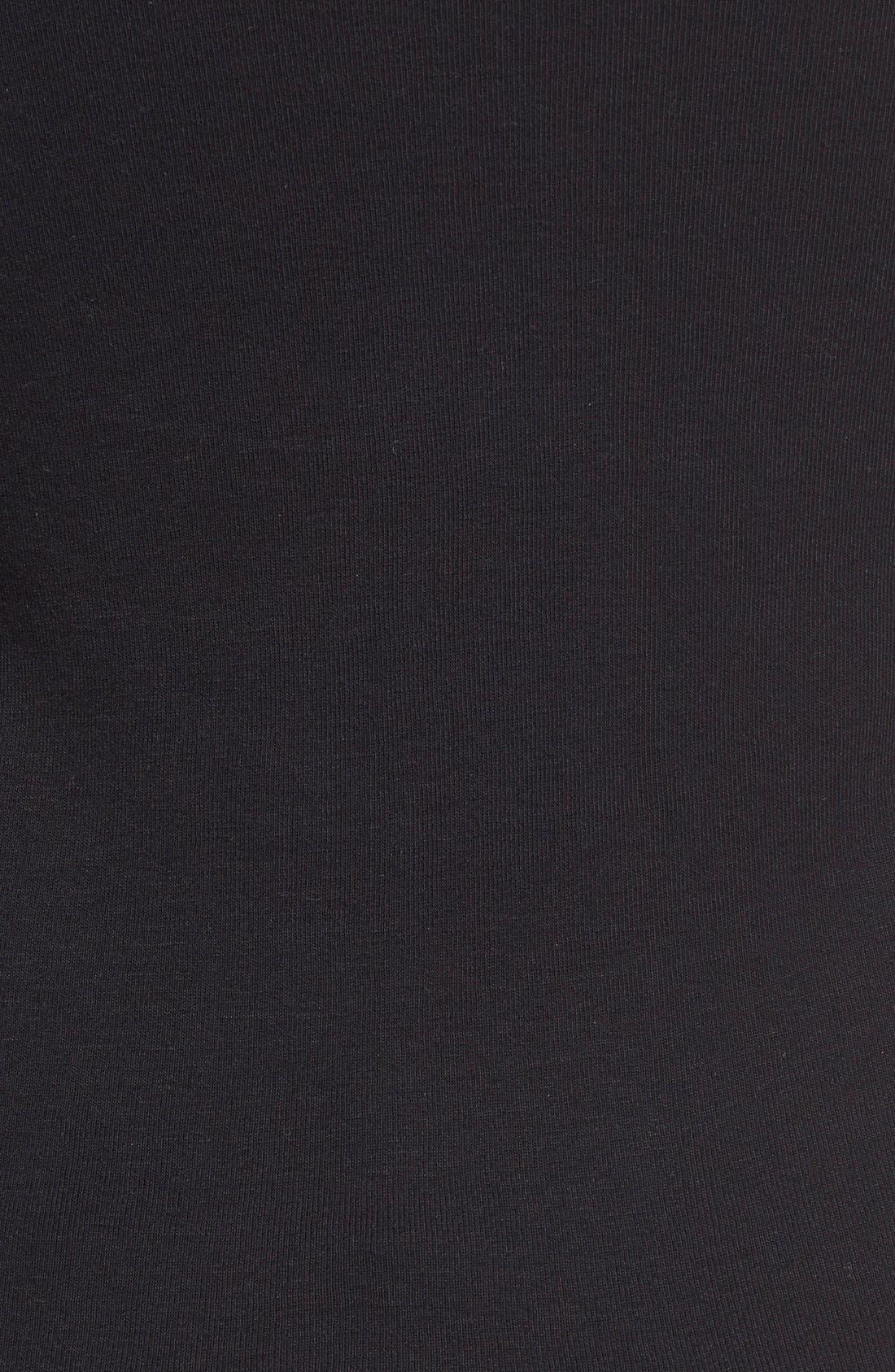 Long Sleeve Crewneck Tee,                             Alternate thumbnail 5, color,                             BLACK