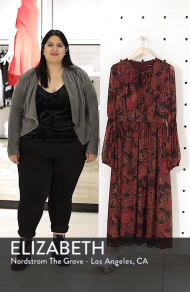 Double Puff Sleeve Midi Dress, sales video thumbnail
