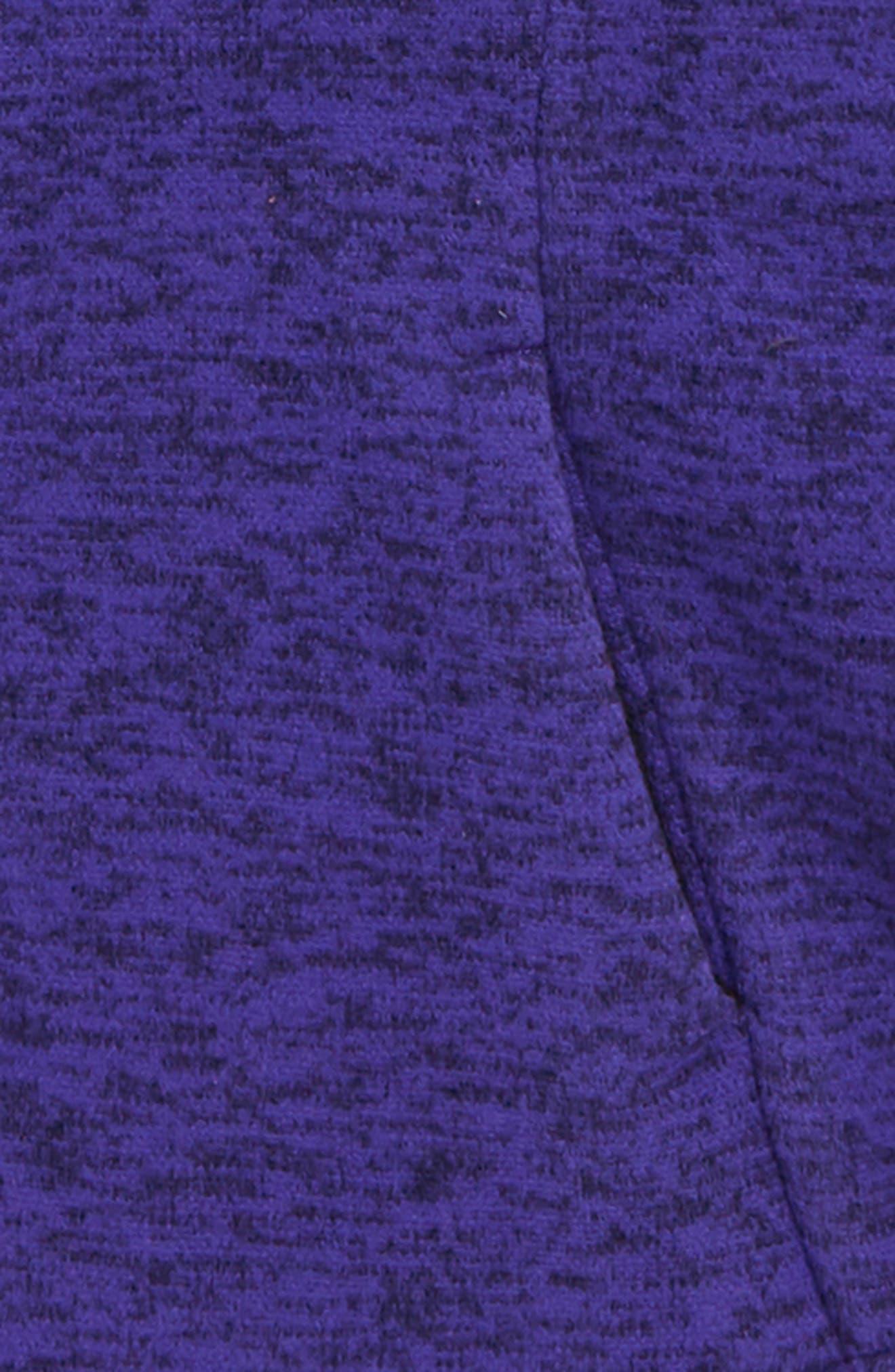 Indi Fleece Jacket,                             Alternate thumbnail 2, color,                             DEEP BLUE HEATHER