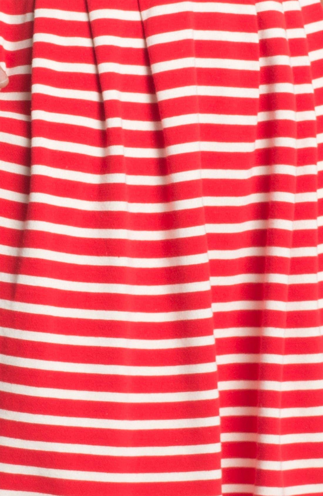 'Classic County' Stripe Cotton Fit & Flare Dress,                             Alternate thumbnail 2, color,                             606