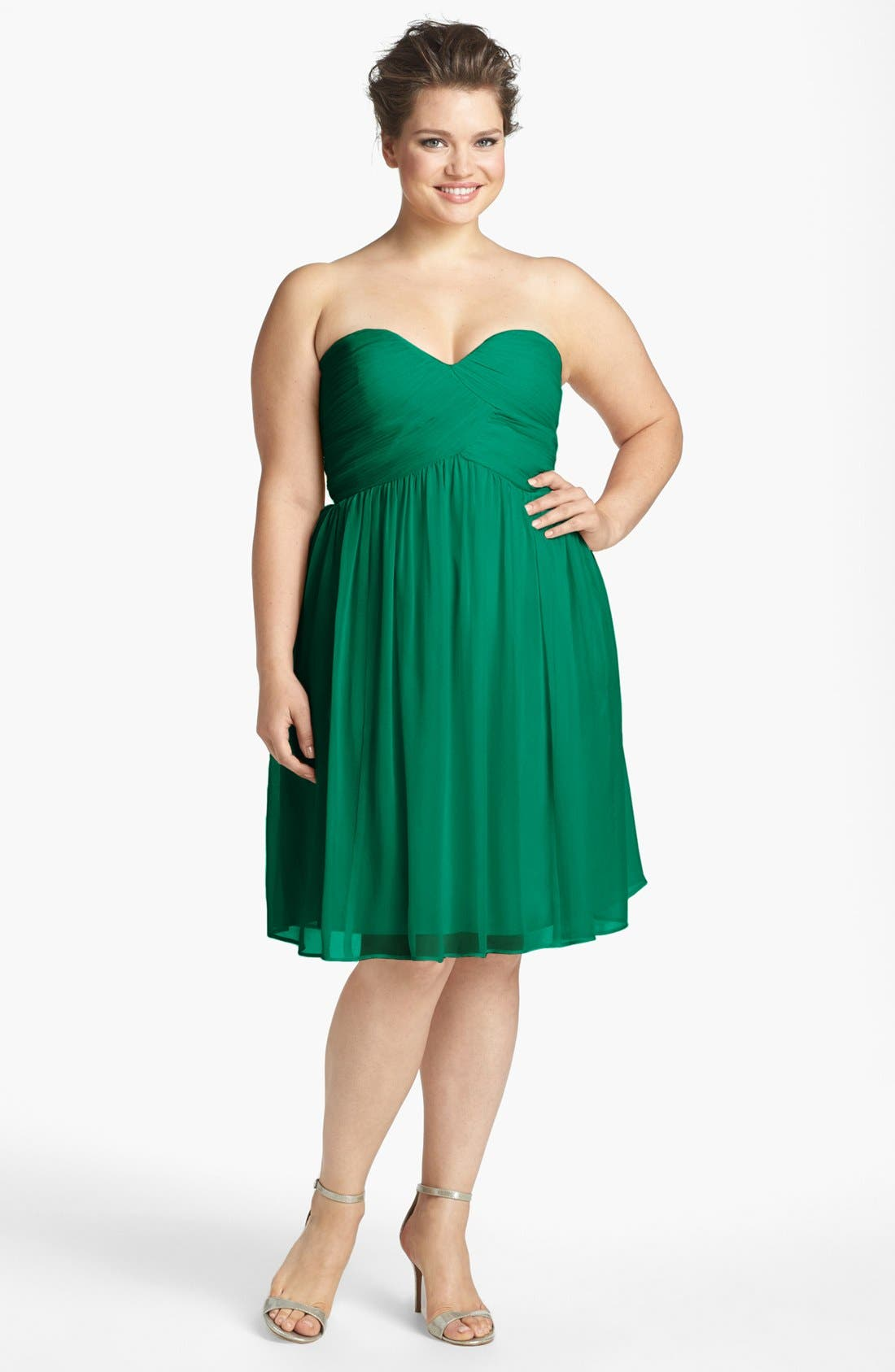 'Morgan' Strapless Silk Chiffon Dress,                             Alternate thumbnail 48, color,