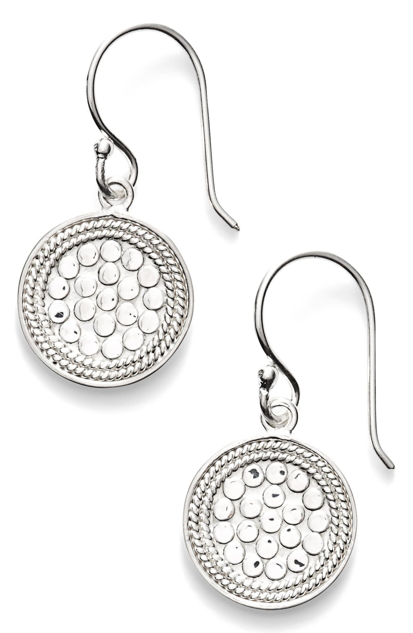 'Gili' Small Drop Earrings,                             Main thumbnail 1, color,                             SILVER