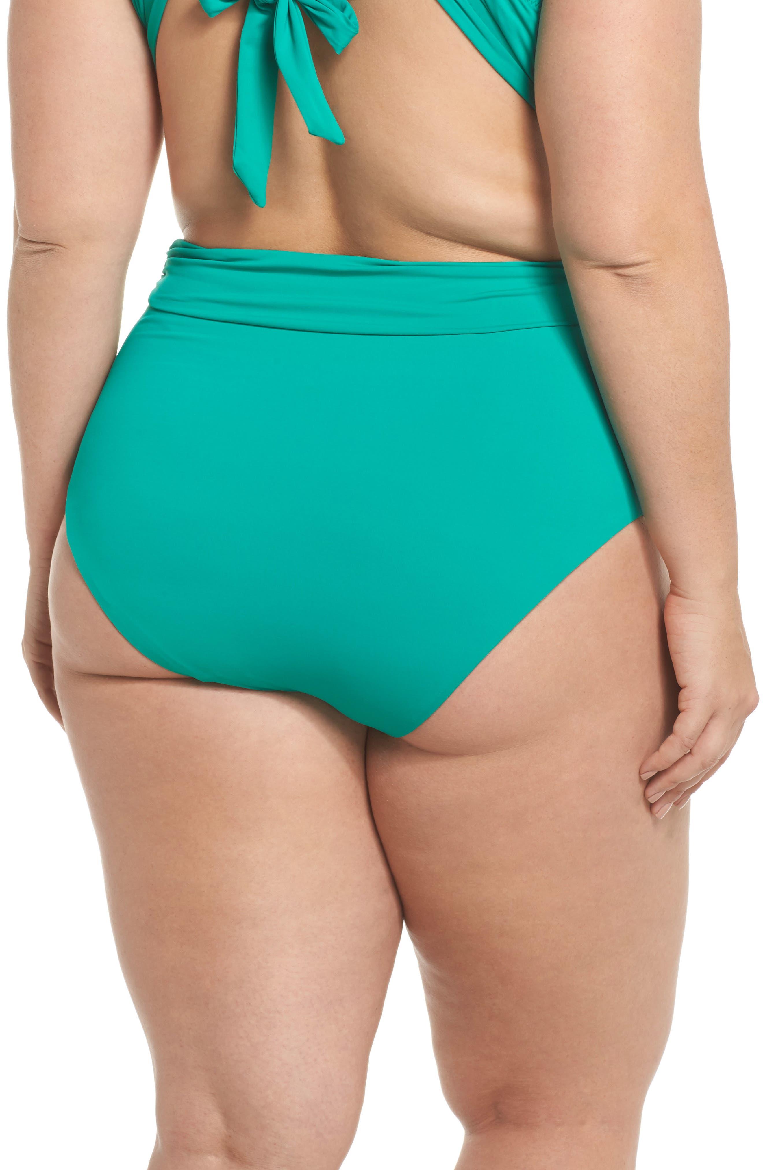 Color Splash High Waist Bikini Bottoms,                             Alternate thumbnail 2, color,                             305