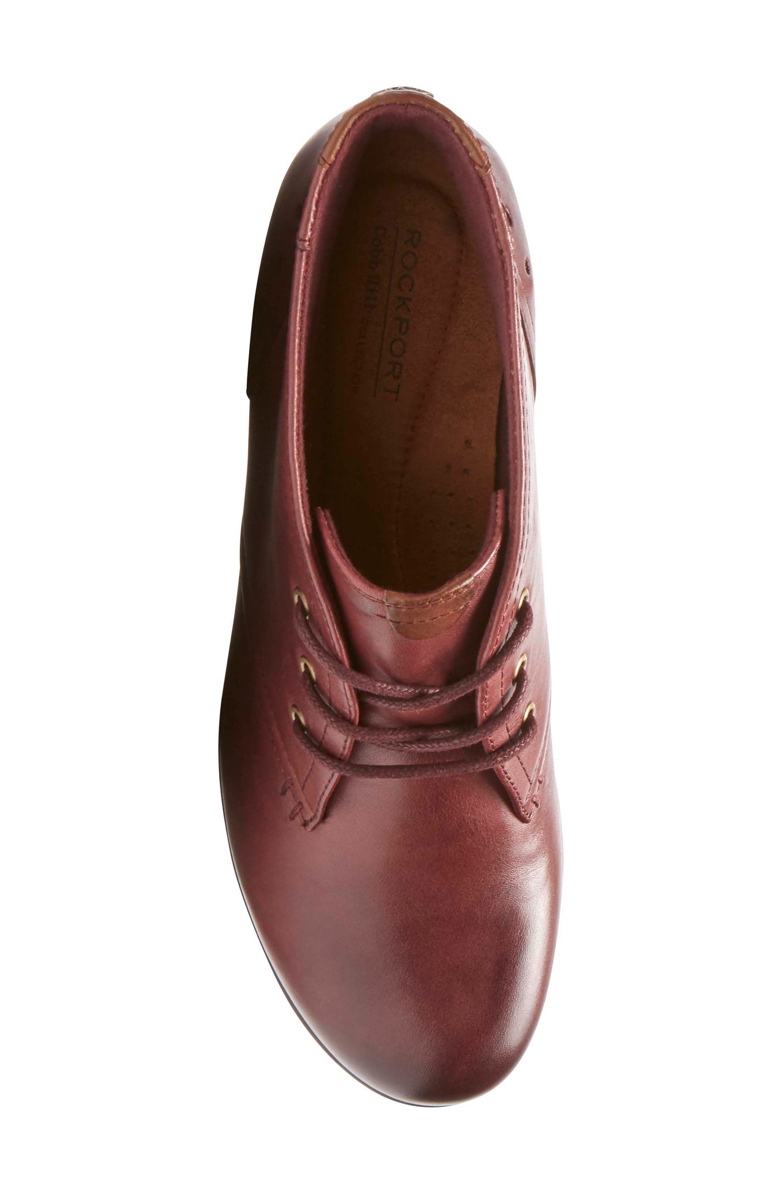 Aria Leather Boot,                             Alternate thumbnail 5, color,                             MERLOT LEATHER