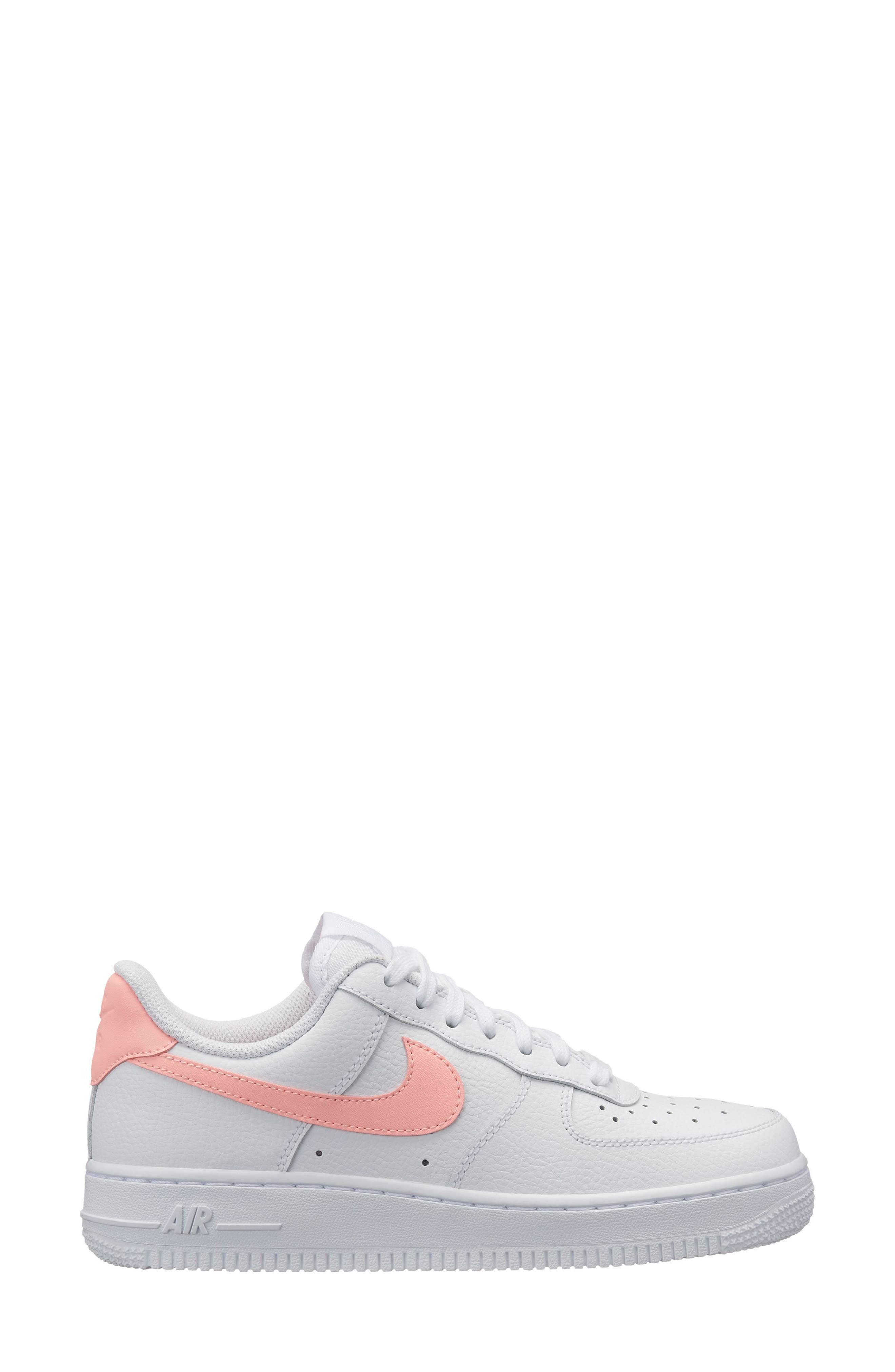 Air Force 1 '07 Patent Sneaker,                             Main thumbnail 1, color,                             WHITE/ ORACLE PINK-WHITE