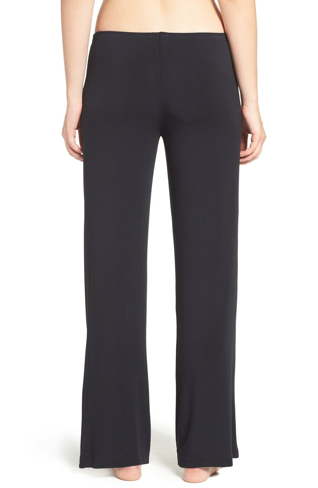 Jersey Pajama Pants,                             Alternate thumbnail 3, color,                             BLACK