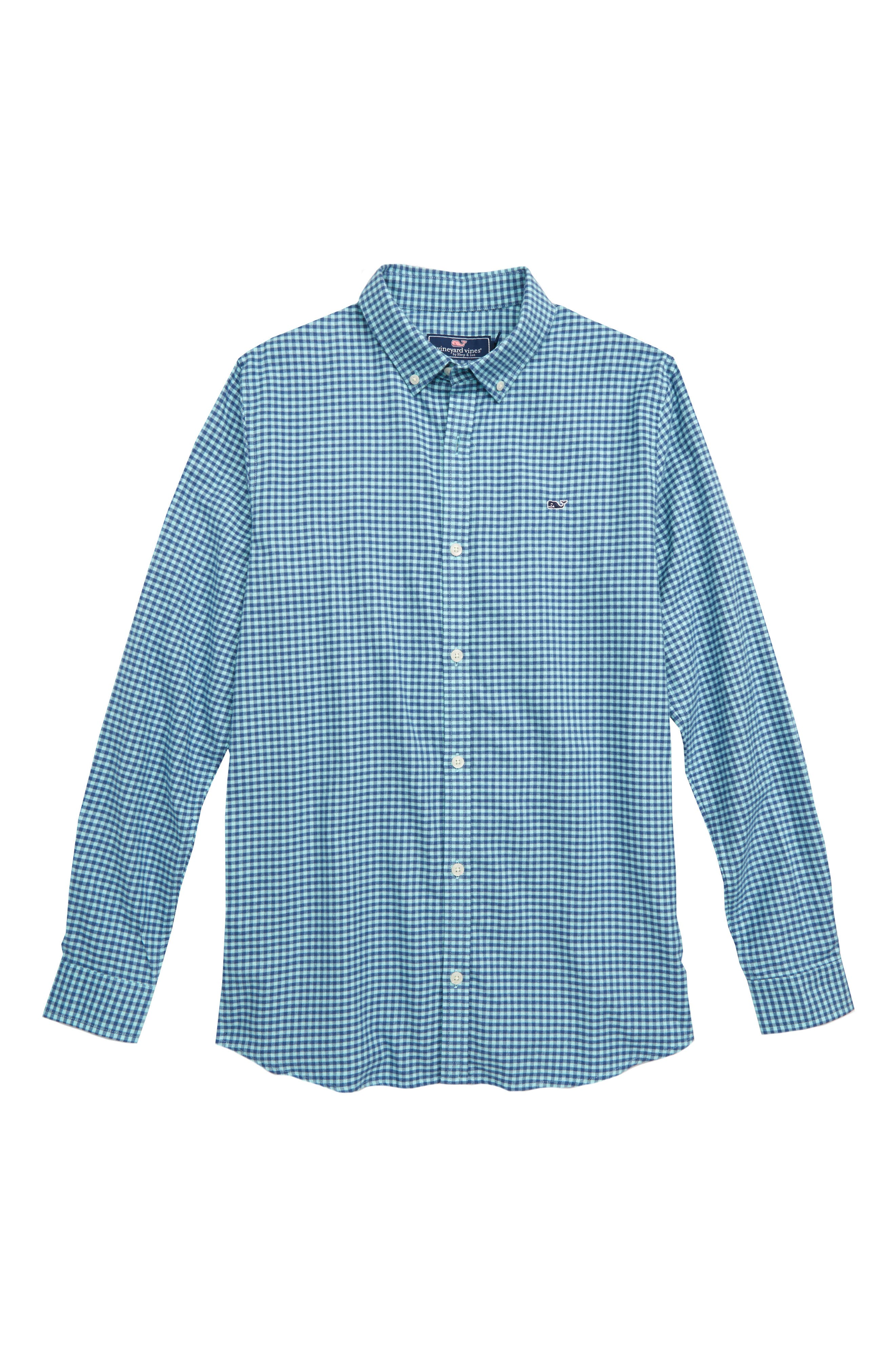 Tradewinds Flannel Whale Shirt,                             Main thumbnail 1, color,                             POOL SIDE