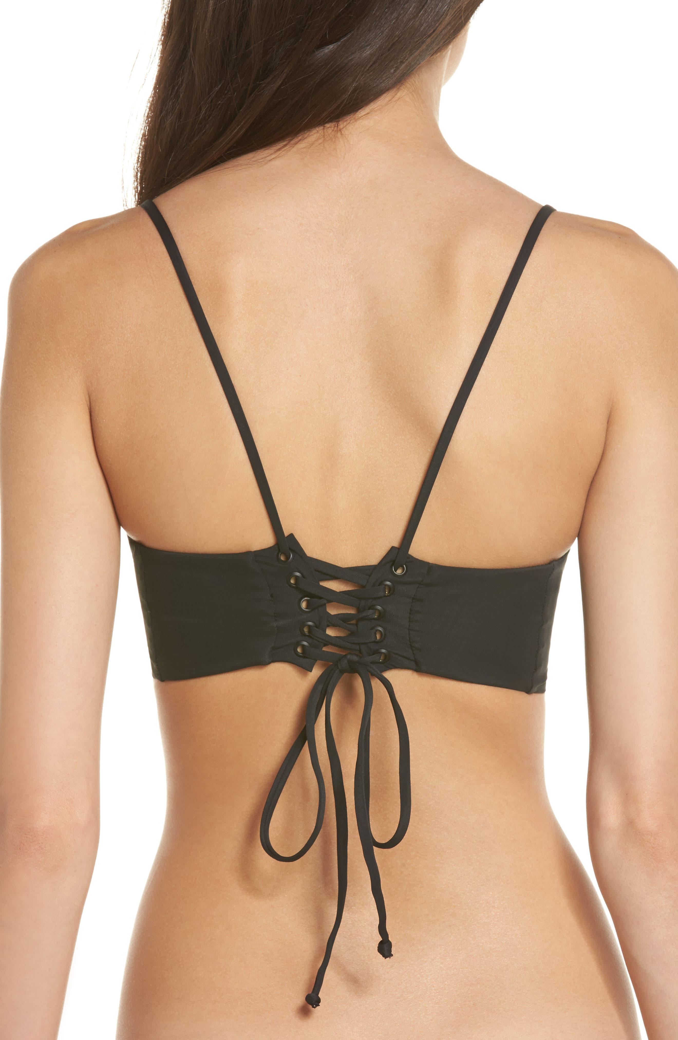 Ms. Jackson Bikini Top,                             Alternate thumbnail 2, color,                             BLACK