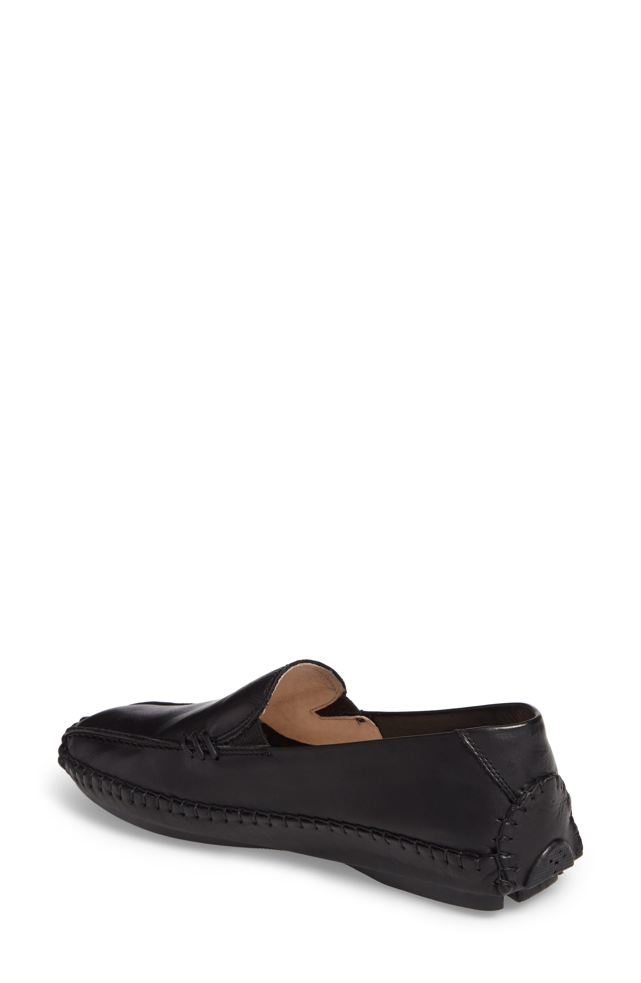 Jerez Loafer,                             Alternate thumbnail 2, color,                             BLACK LEATHER