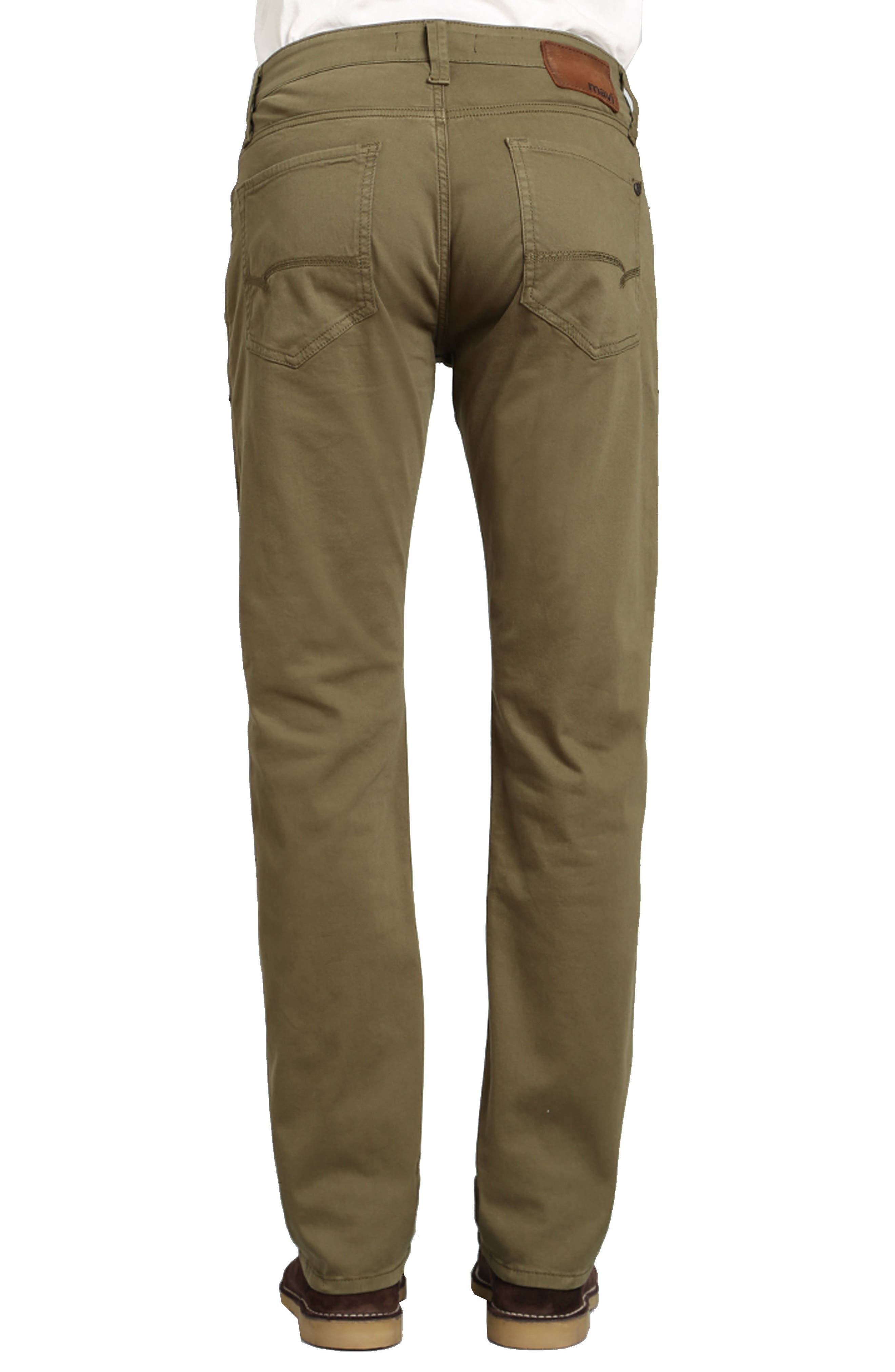 Zach Straight Fit Twill Pants,                             Alternate thumbnail 2, color,                             GREEN OLIVE TWILL