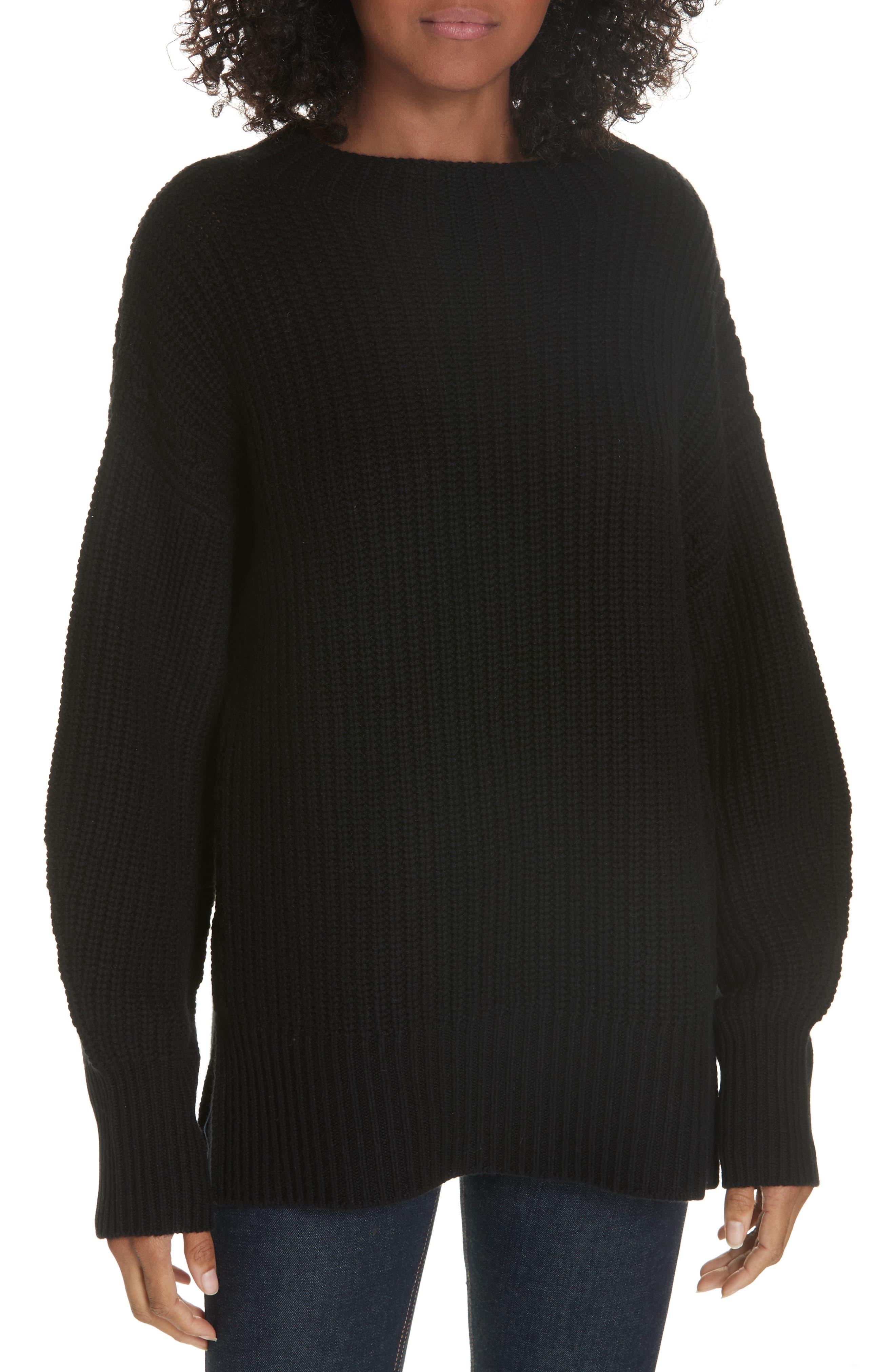 Equipment Wool Cashmere Shaker Knit Sweater, Black