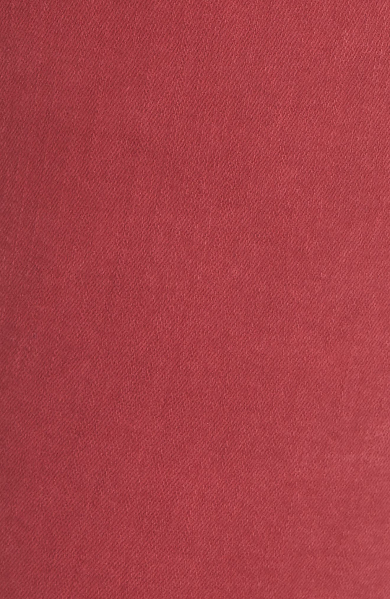 Rolling Old Reina Lattice Stitch Skinny Jeans,                             Alternate thumbnail 6, color,                             FRAMBOISE