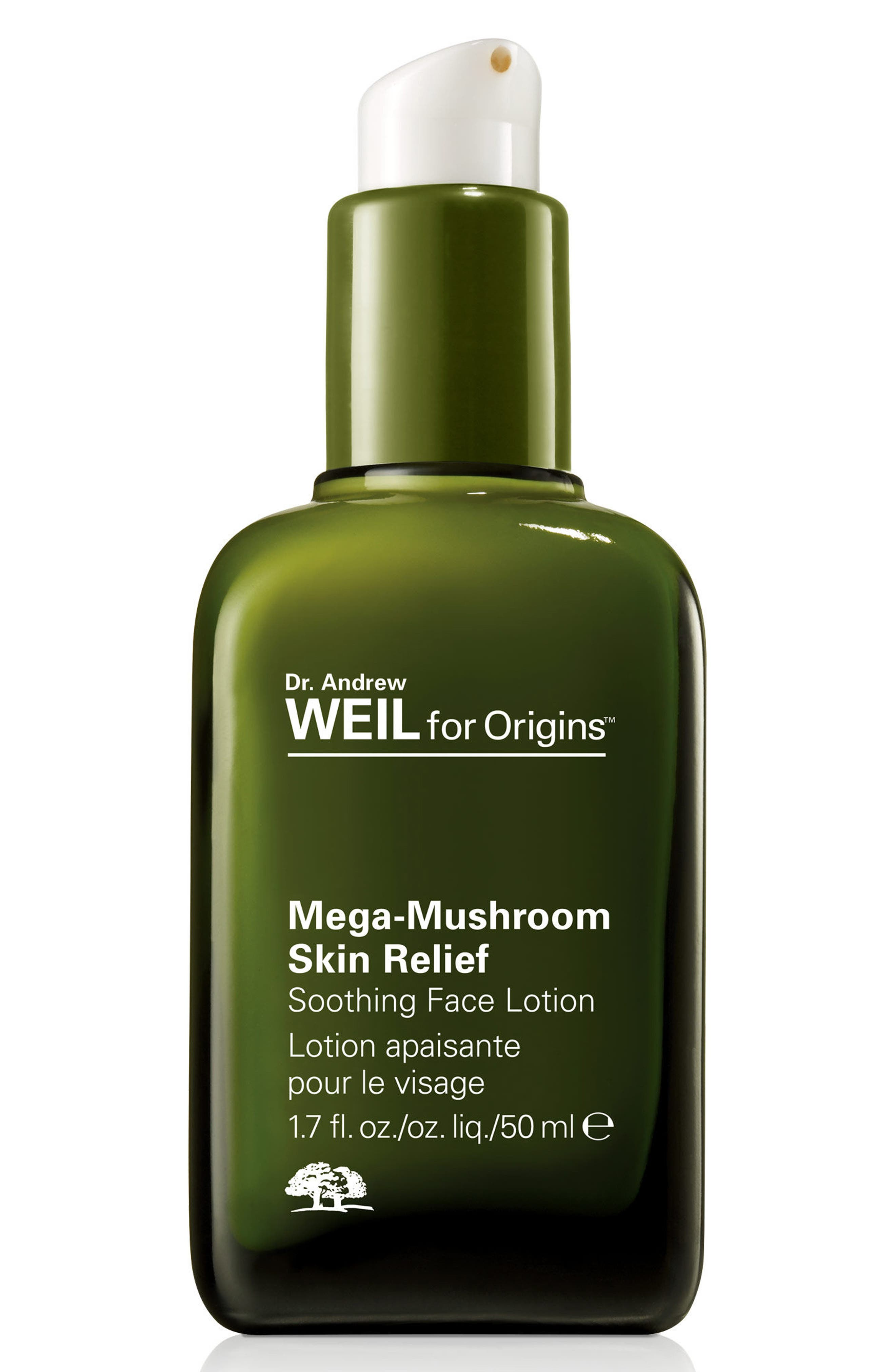 Dr. Andrew Weil for Origins<sup>™</sup> Mega-Mushroom Skin Relief Soothing Face Lotion,                             Main thumbnail 1, color,                             NO COLOR
