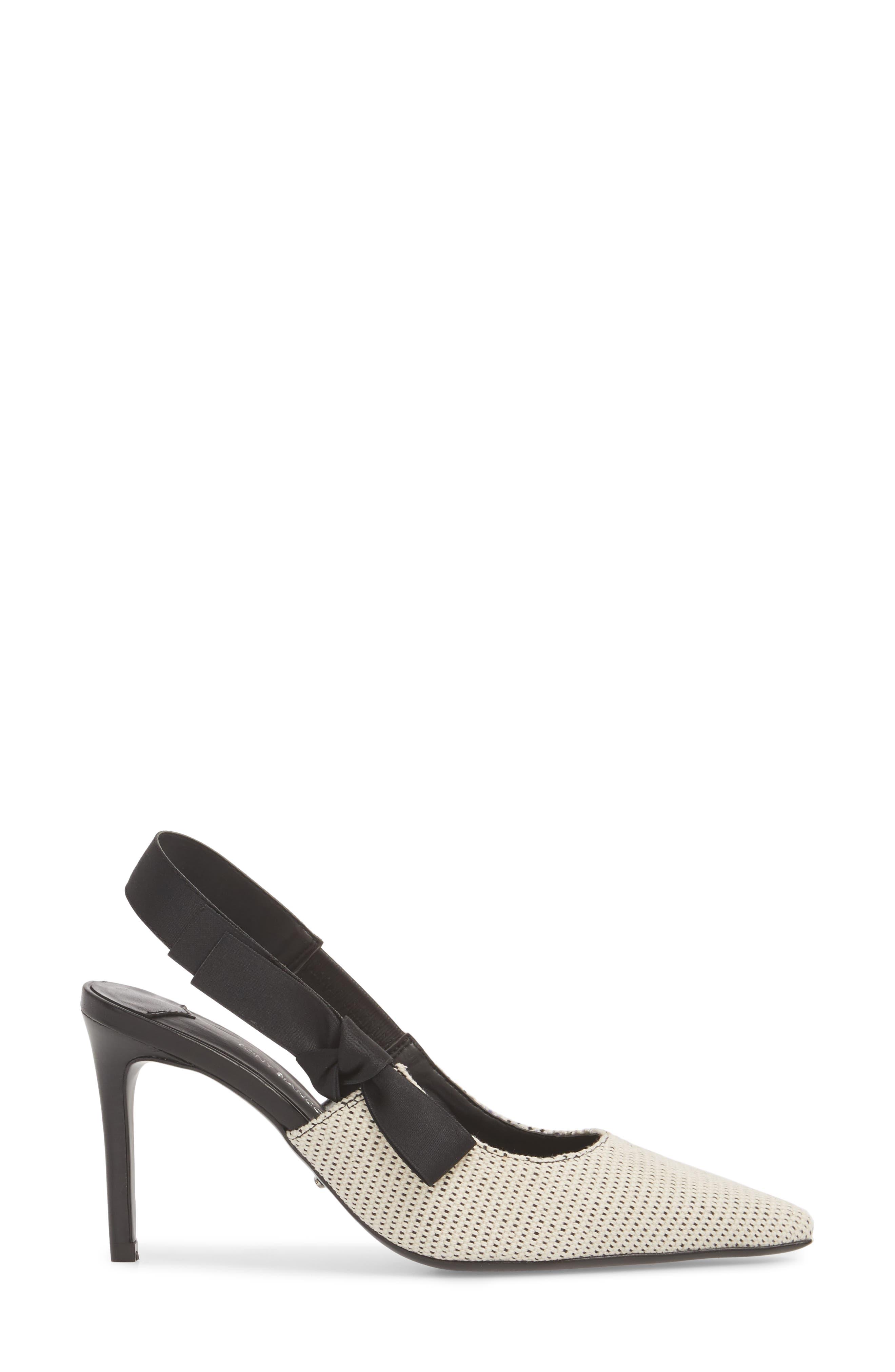 Evita Sandal,                             Alternate thumbnail 3, color,                             WHITE/ BLACK FABRIC