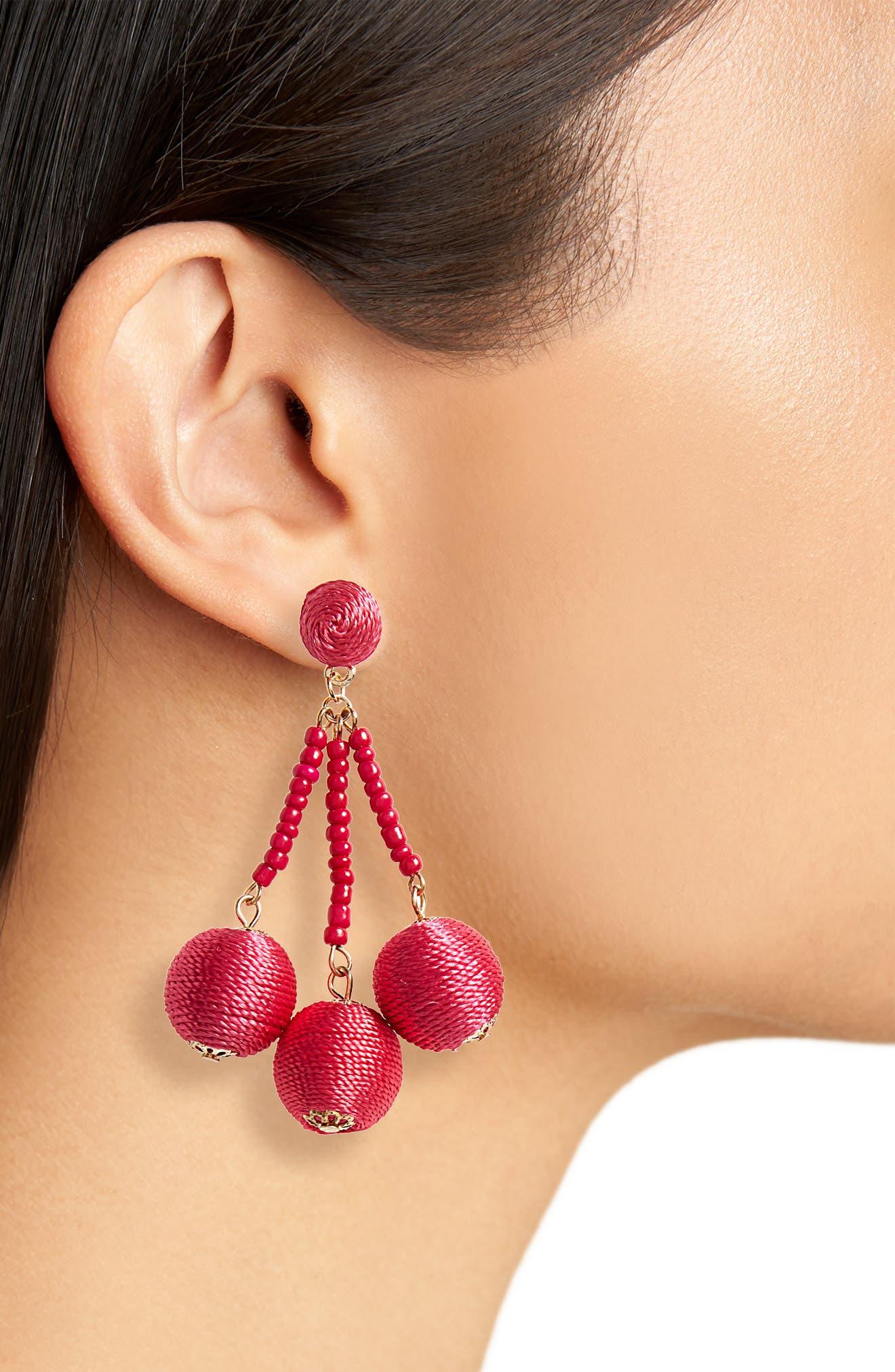 Sphere Drop Earrings,                             Alternate thumbnail 2, color,                             650