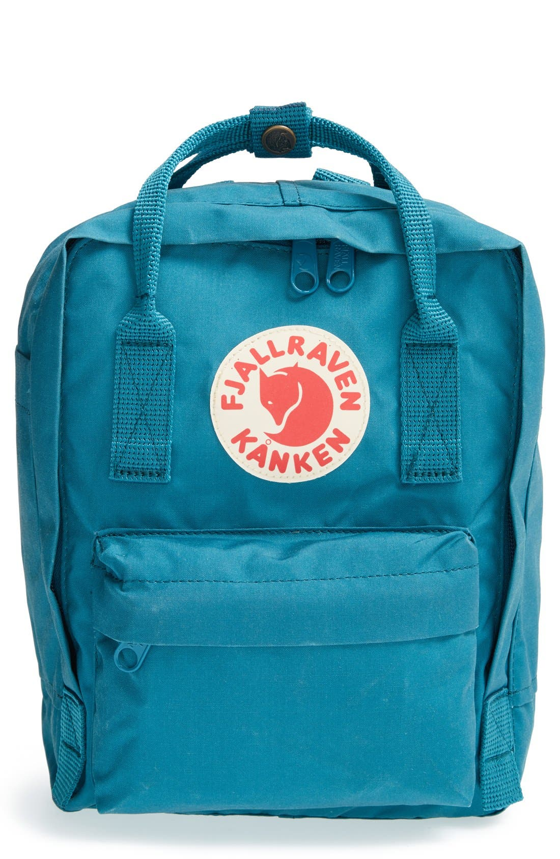 'Mini Kånken' Water Resistant Backpack,                             Main thumbnail 1, color,                             OCEAN GREEN