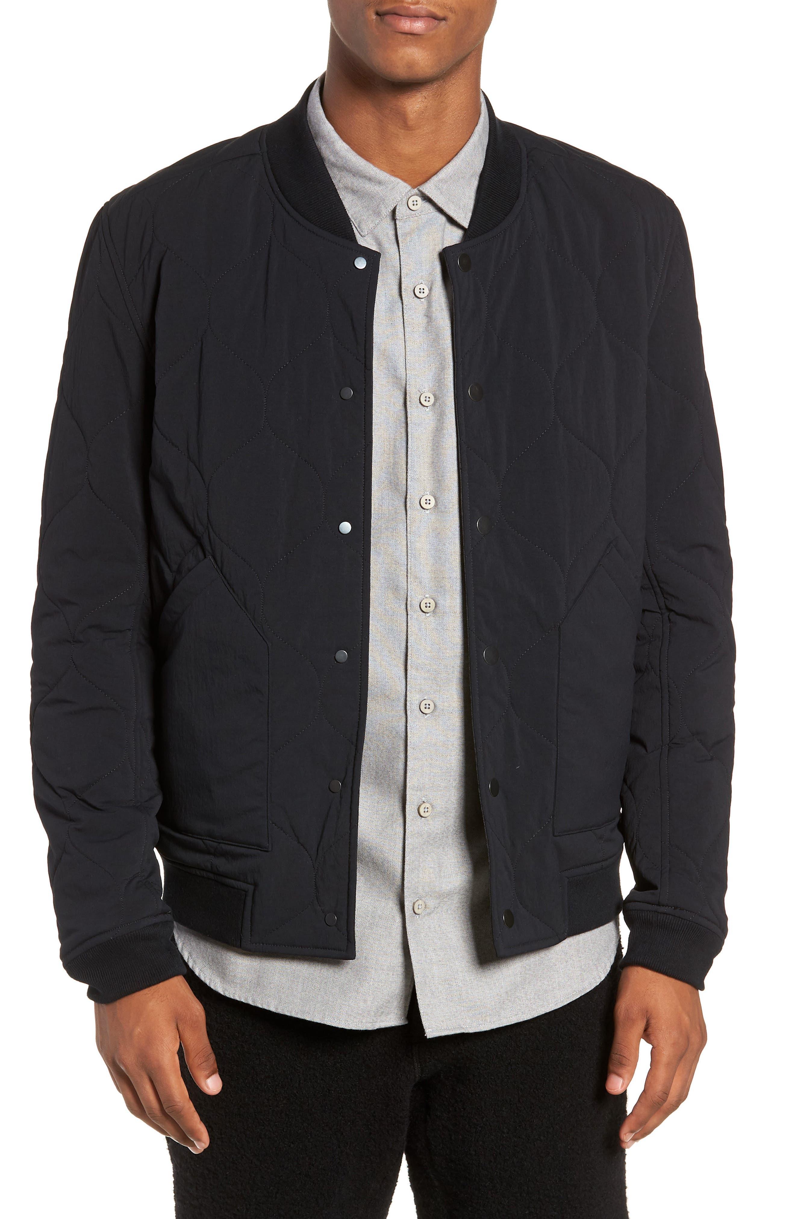Reversible Bomber Jacket,                         Main,                         color, BLACK