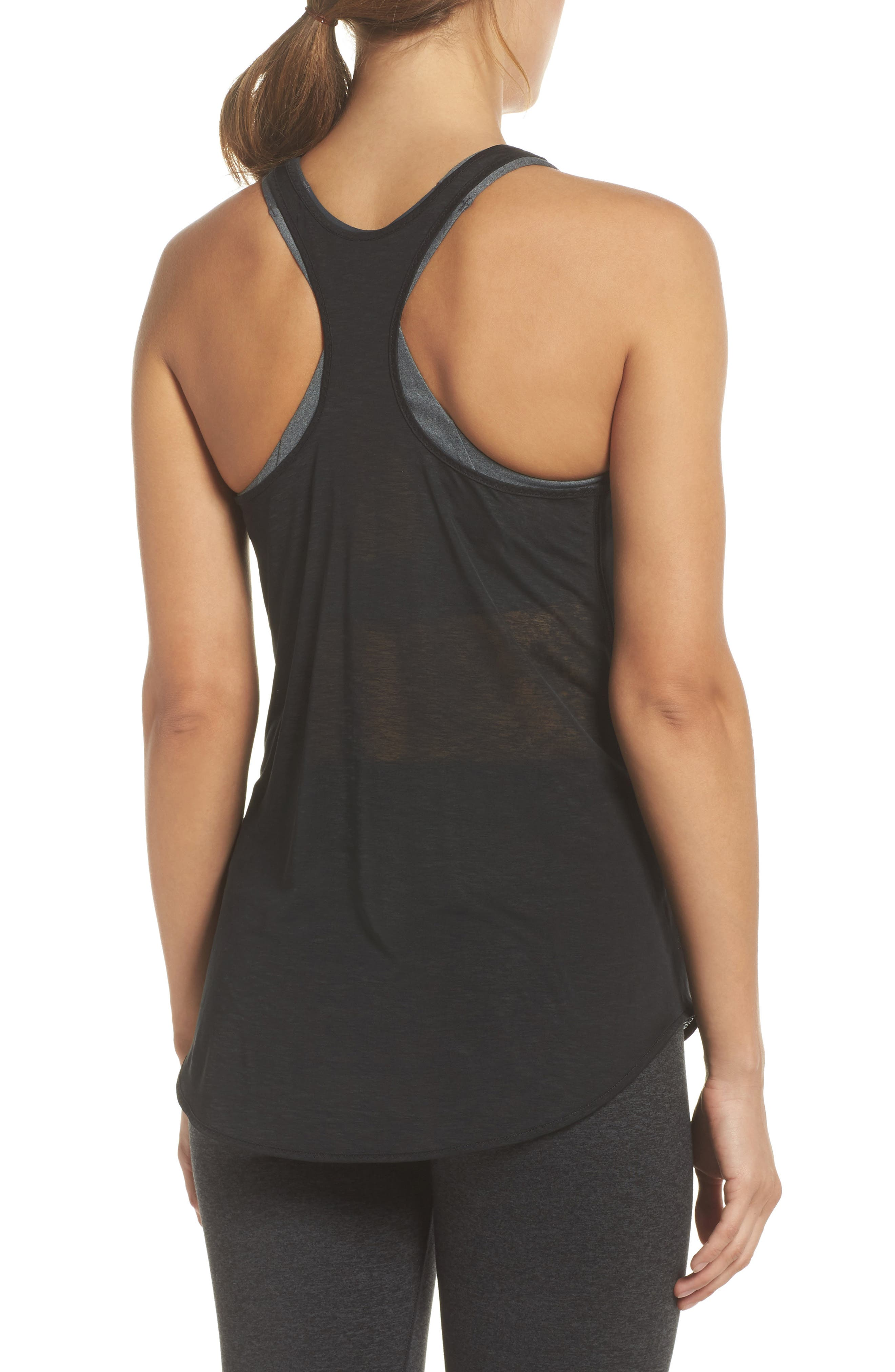 Ghost DriLayer Racerback Tank,                             Alternate thumbnail 2, color,                             001