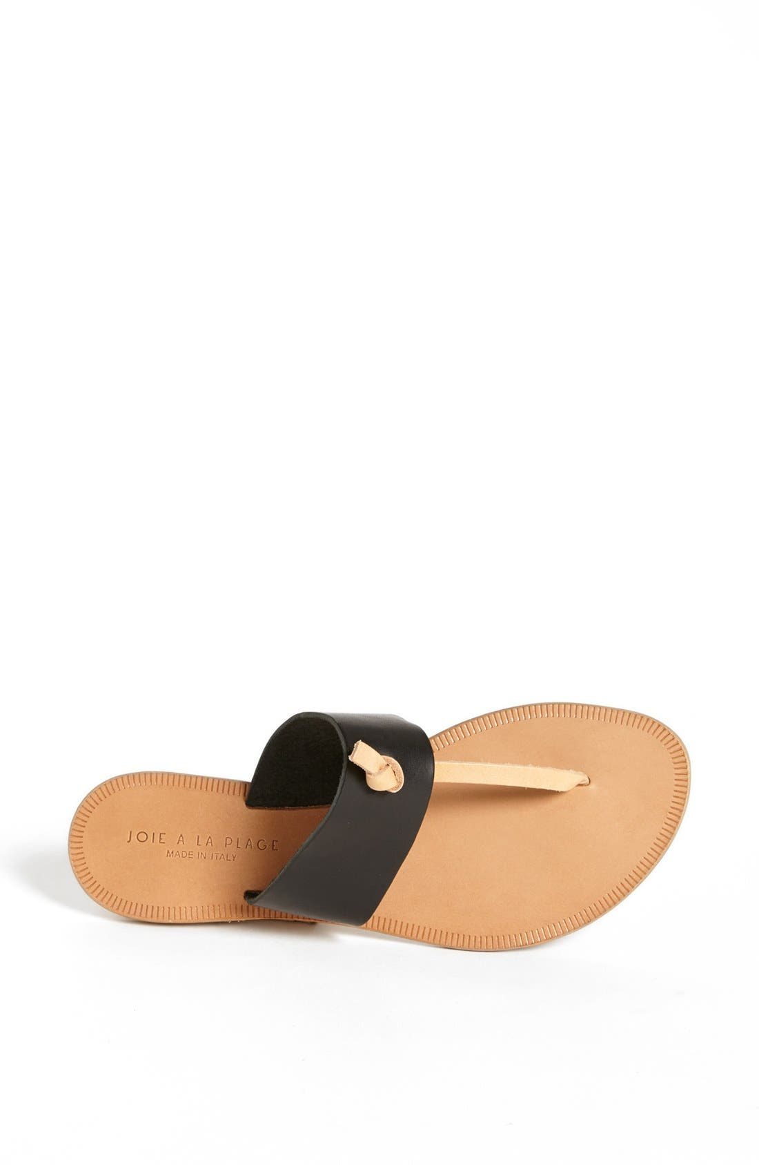 a la Plage 'Nice' Flip Flop,                             Alternate thumbnail 4, color,                             001
