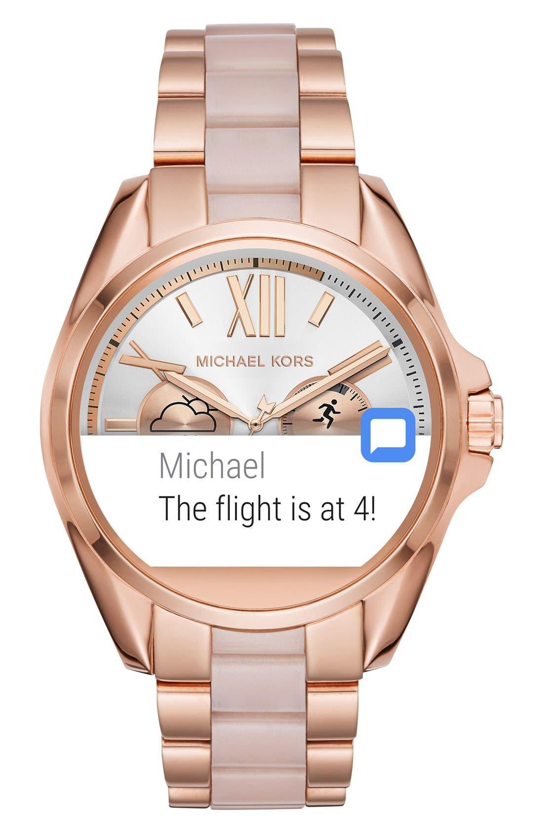 MICHAEL Michael Kors Bradshaw Access Bracelet Smart Watch, 45mm,                             Alternate thumbnail 54, color,