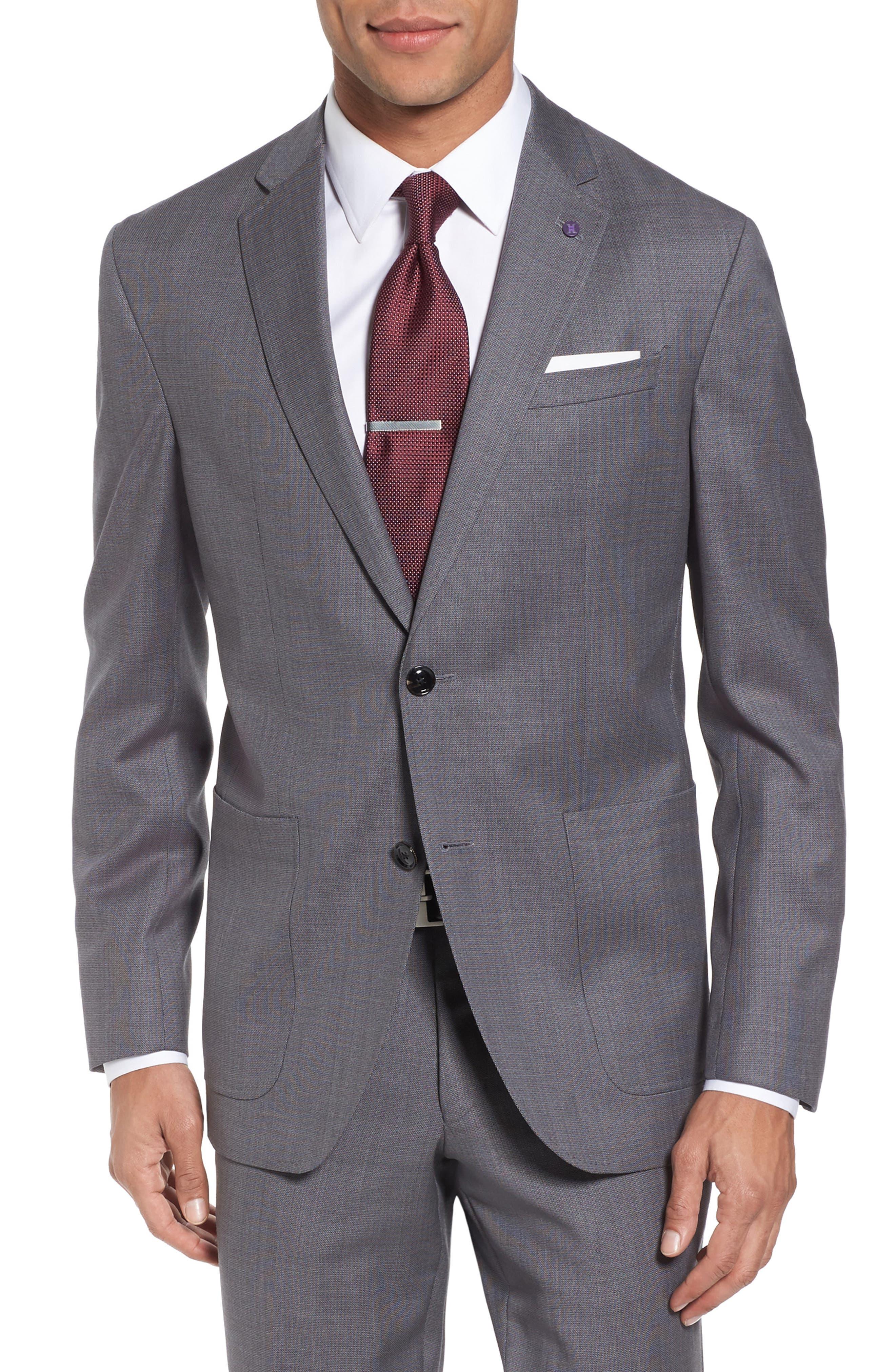 Kyle Trim Fit Solid Wool Suit,                             Alternate thumbnail 5, color,                             020