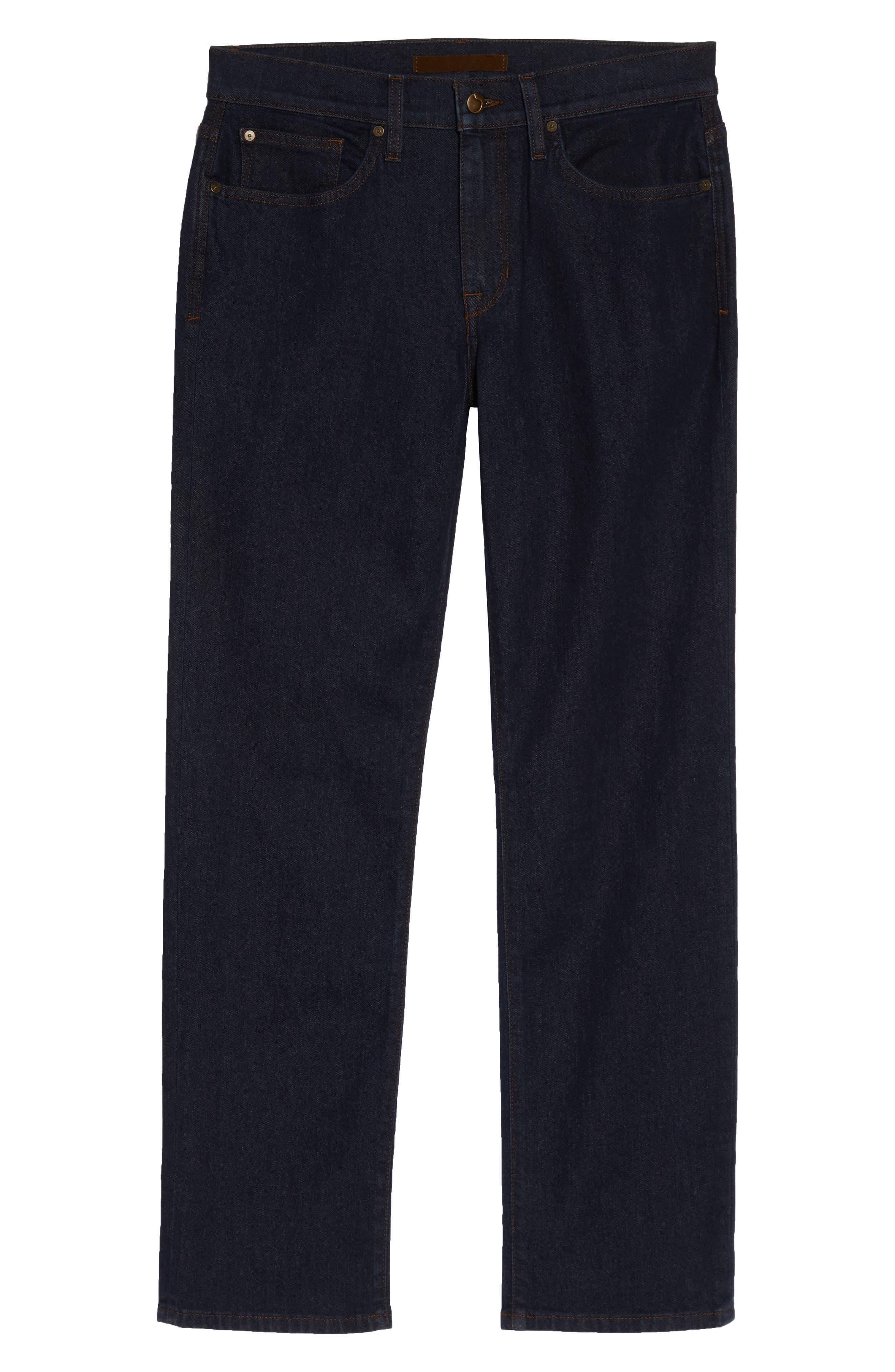Classic Straight Leg Jeans,                             Alternate thumbnail 4, color,                             ROCK