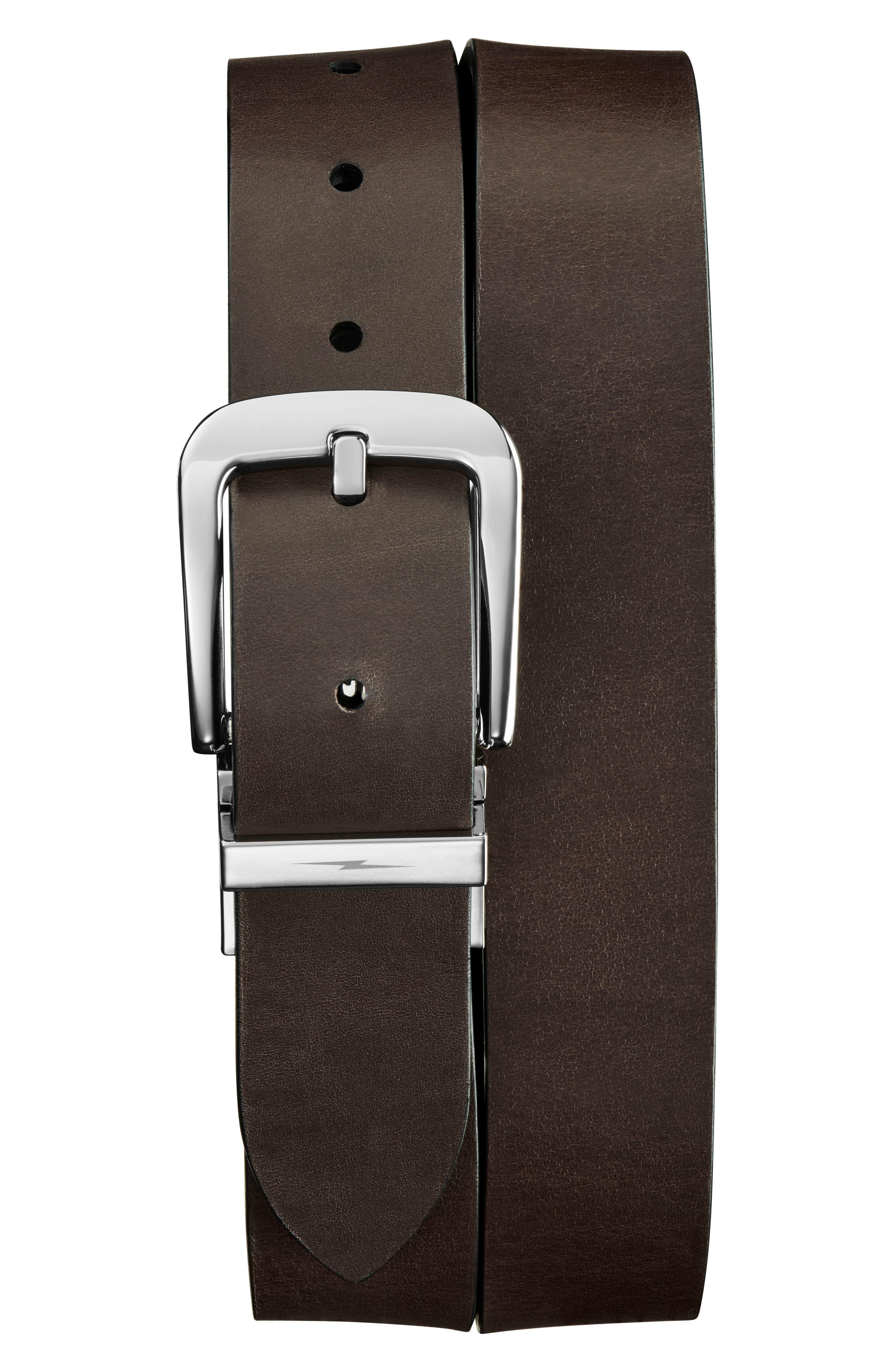 Reversible Leather Belt,                             Alternate thumbnail 2, color,                             001