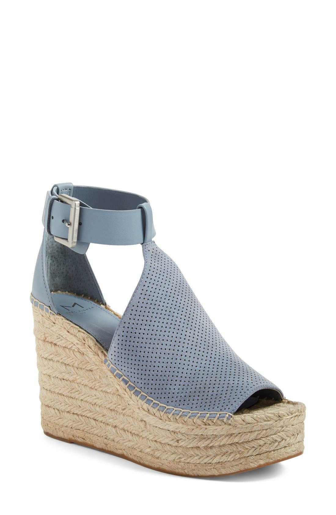 Annie Perforated Espadrille Platform Wedge,                             Main thumbnail 3, color,