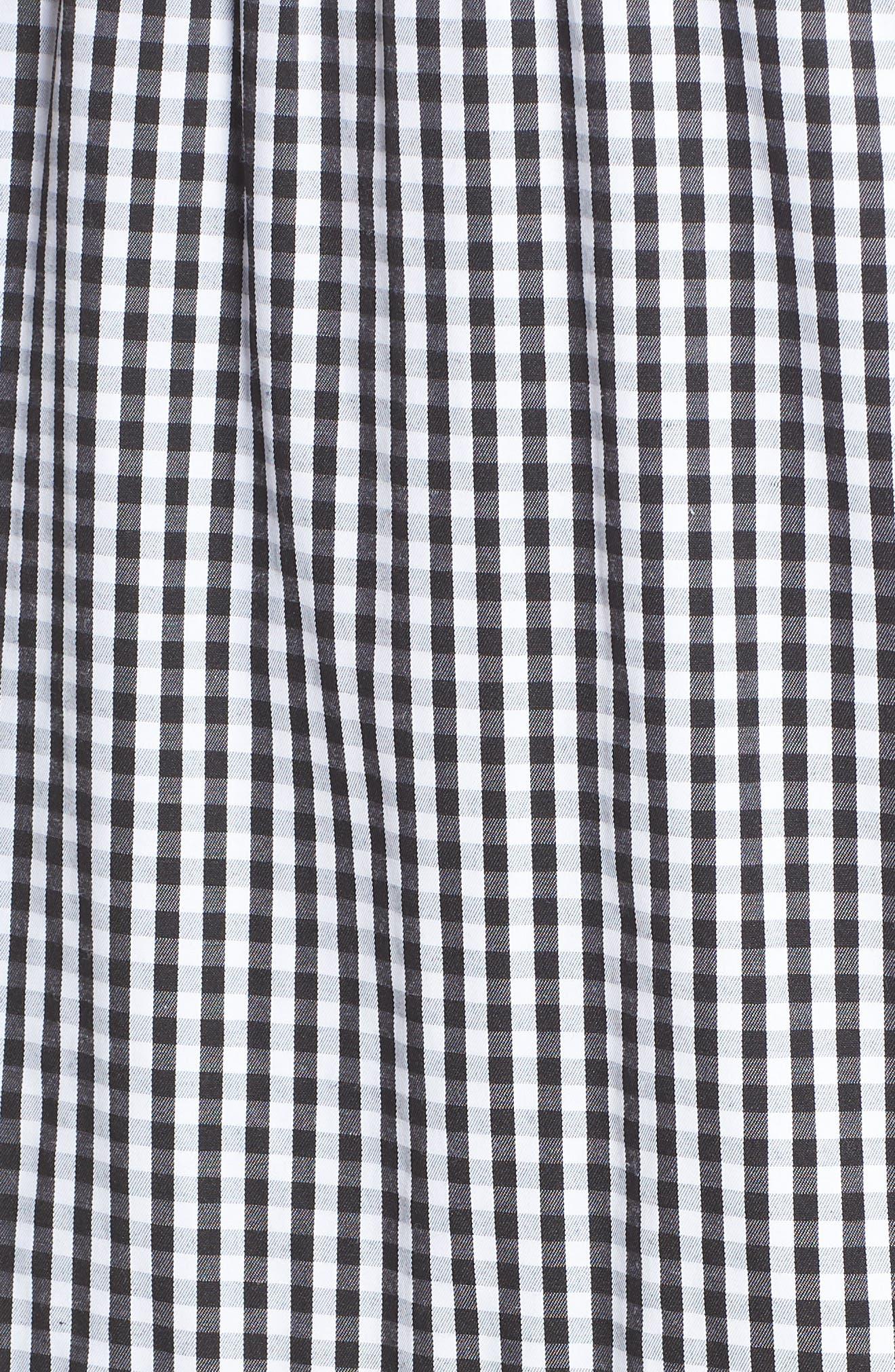Gingham Check Maxi Dress,                             Alternate thumbnail 6, color,                             100