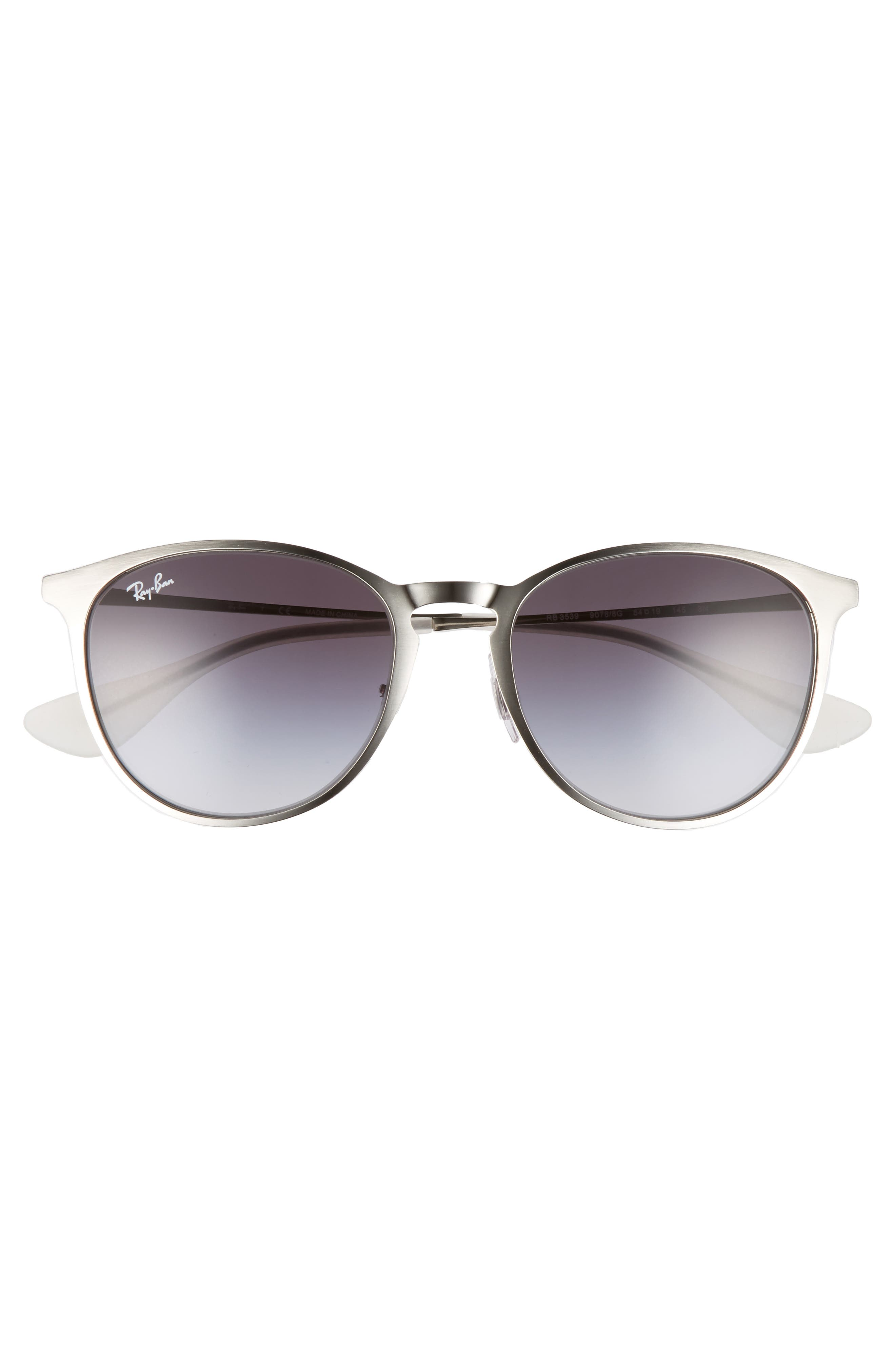 Erika 54mm Metal Sunglasses,                             Alternate thumbnail 2, color,                             LITE SILVER
