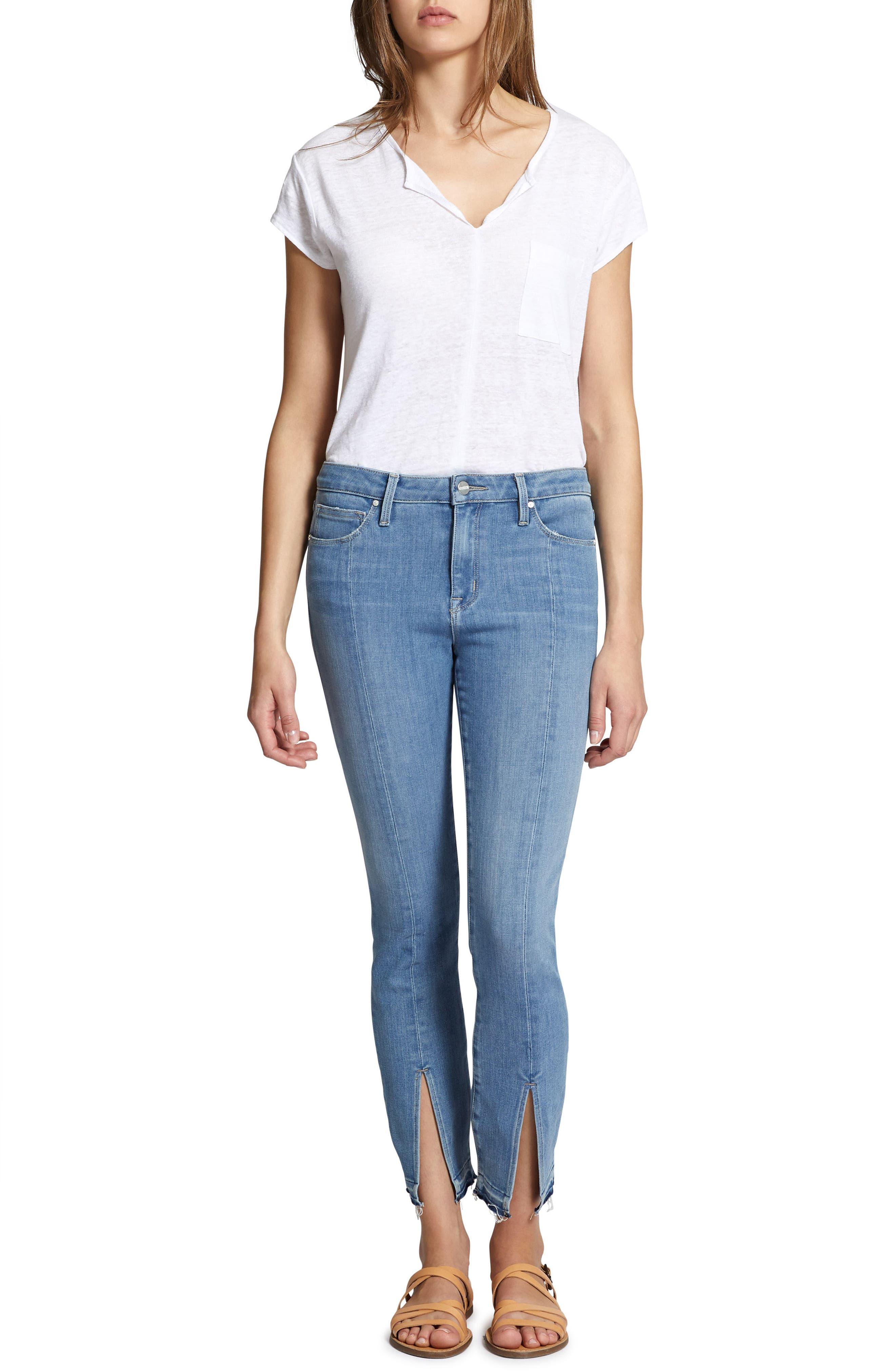 Robbie Spring Slit Jeans,                             Alternate thumbnail 4, color,                             421