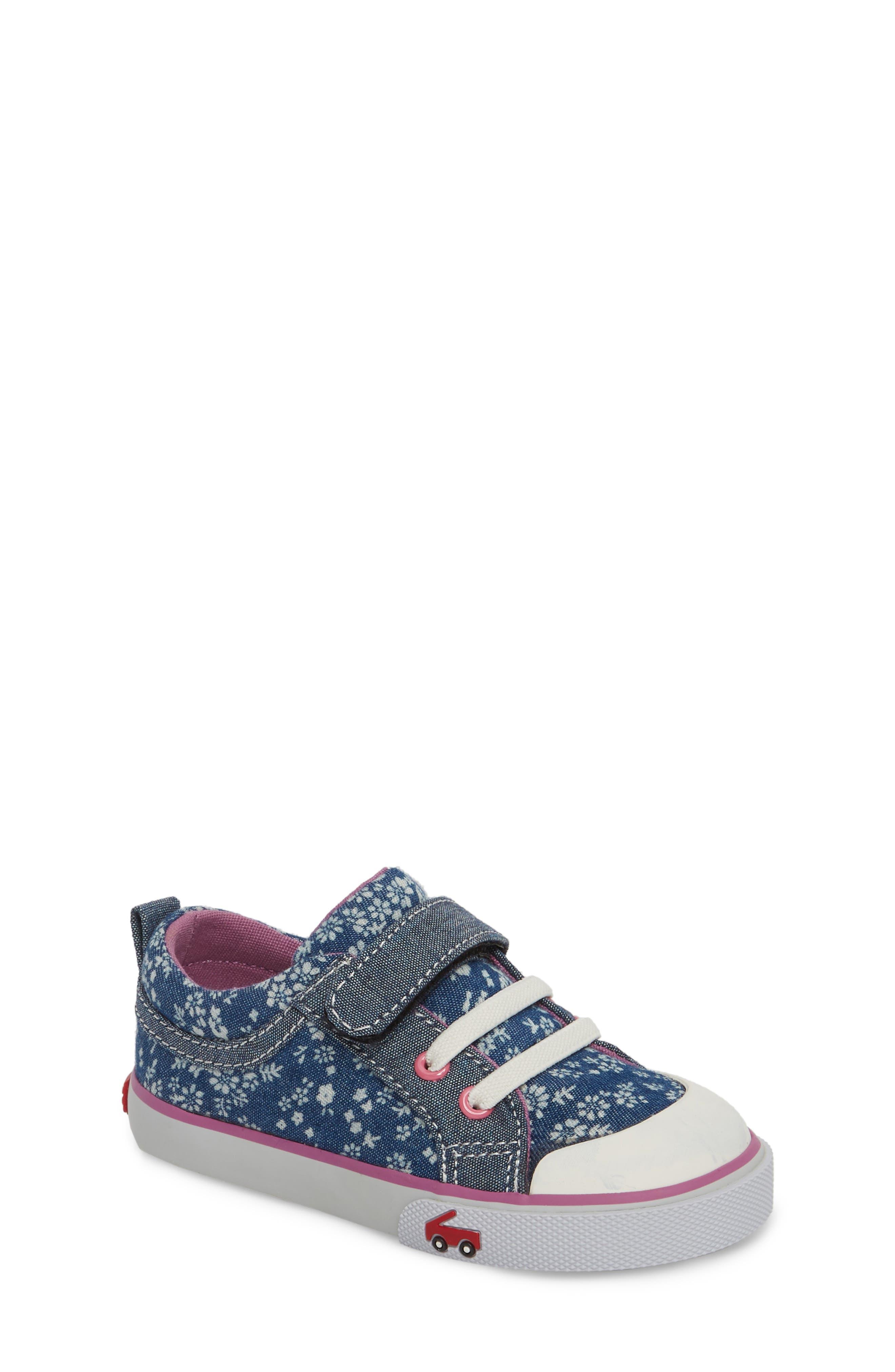 Kristin Sneaker,                             Main thumbnail 1, color,                             BLUE FLOWERS
