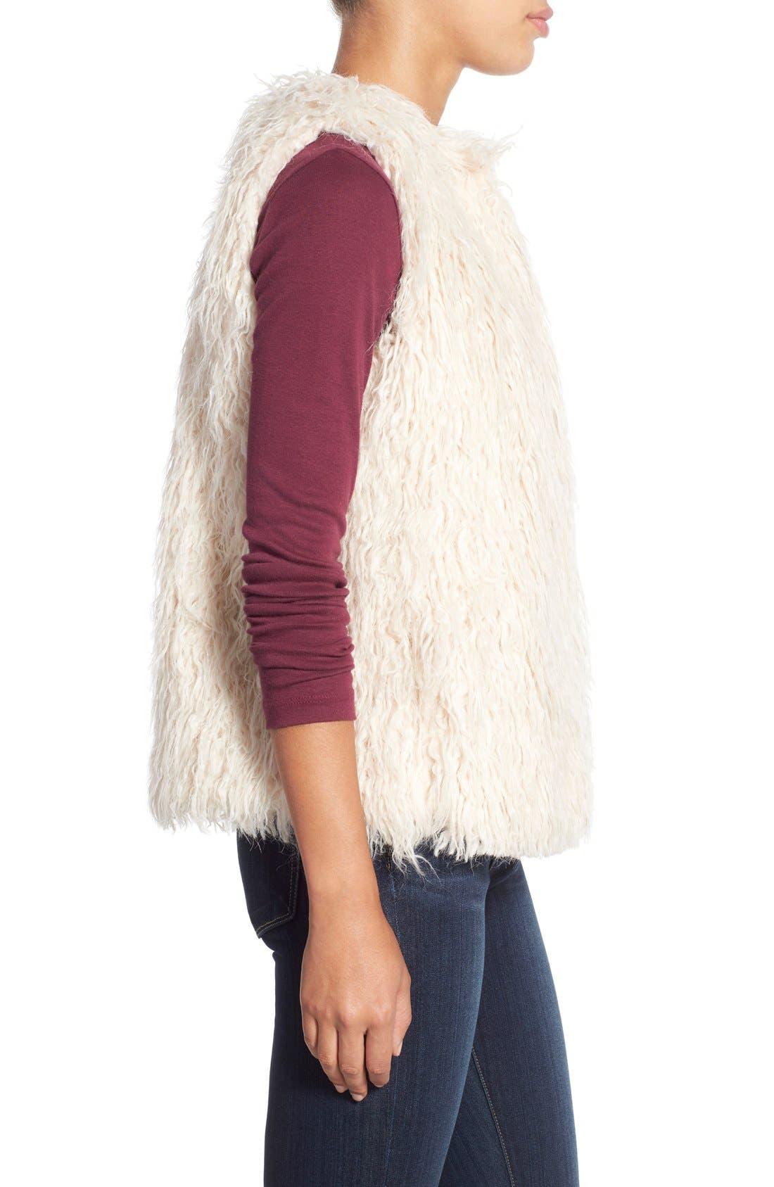 Shaggy Faux Fur Vest,                             Alternate thumbnail 4, color,                             299