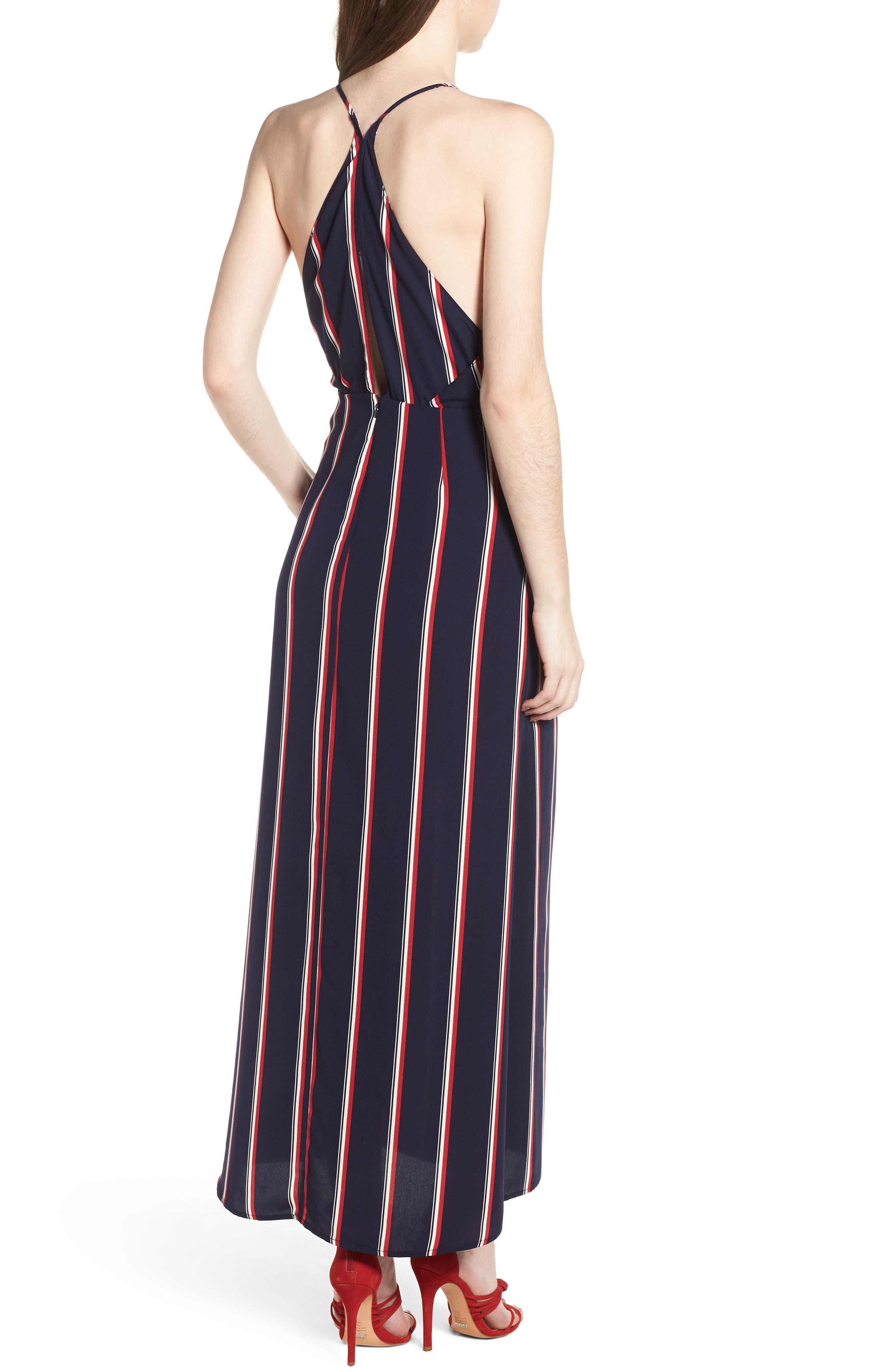Print Maxi Dress,                             Alternate thumbnail 2, color,                             400