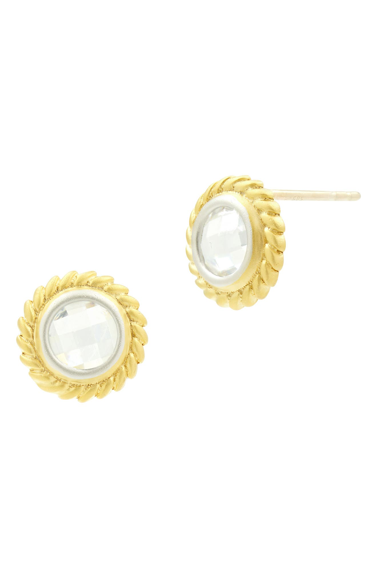 Fleur Bloom Disc Earrings,                         Main,                         color, SILVER AND GOLD