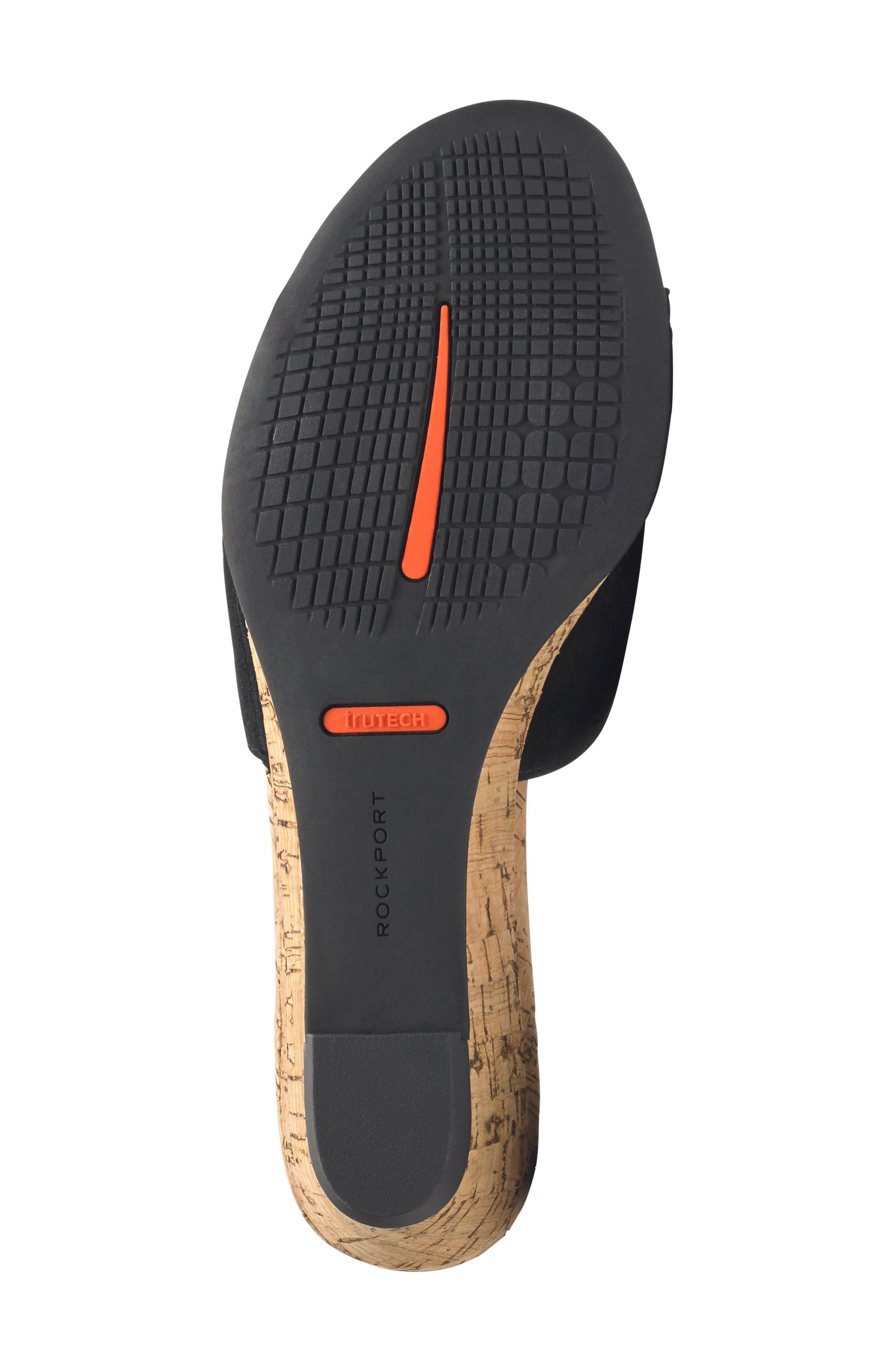 Zandra Total Motion<sup>®</sup> Slide Sandal,                             Alternate thumbnail 6, color,                             BLACK SUEDE