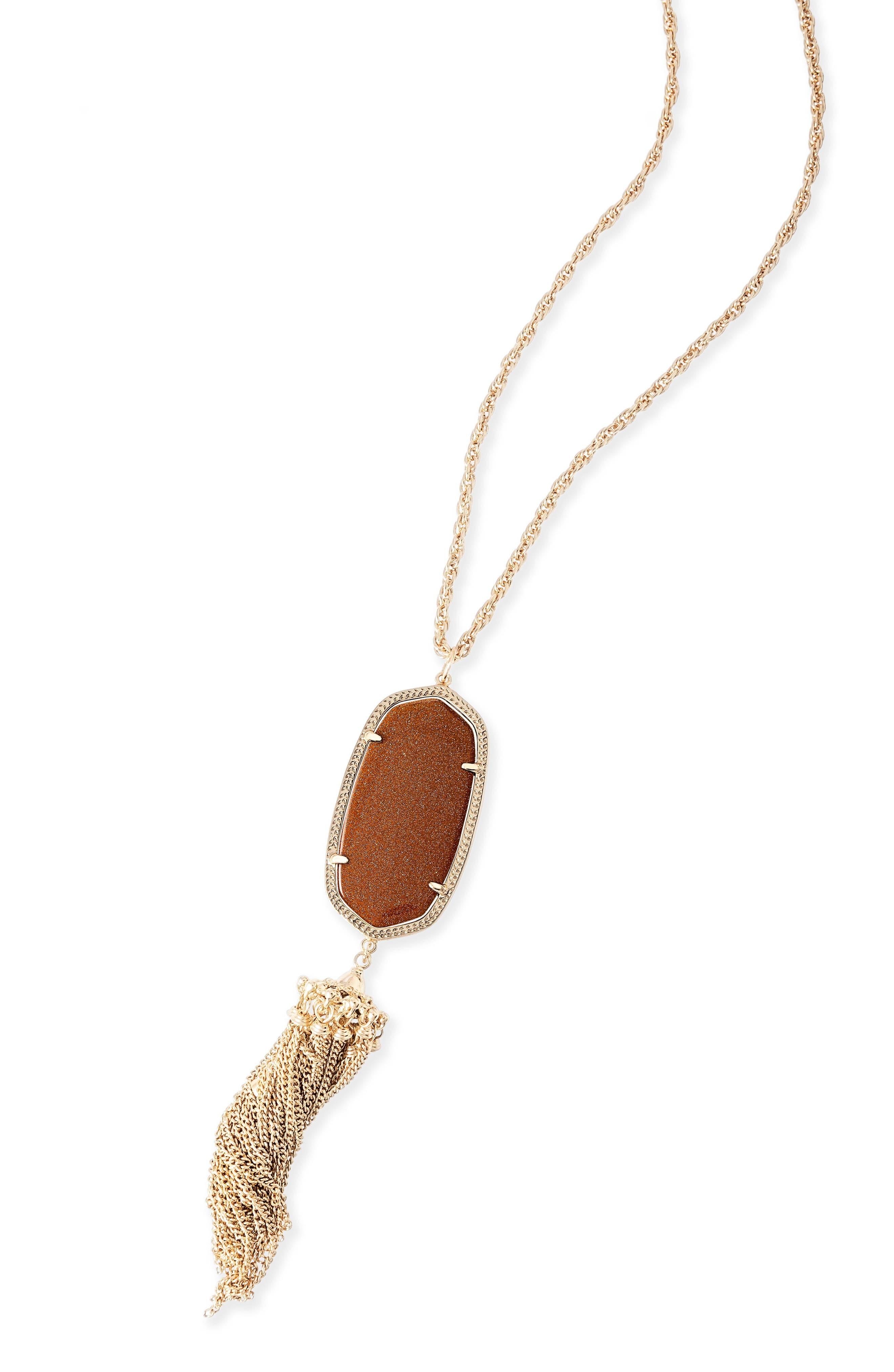 Rayne Stone Tassel Pendant Necklace,                             Alternate thumbnail 324, color,