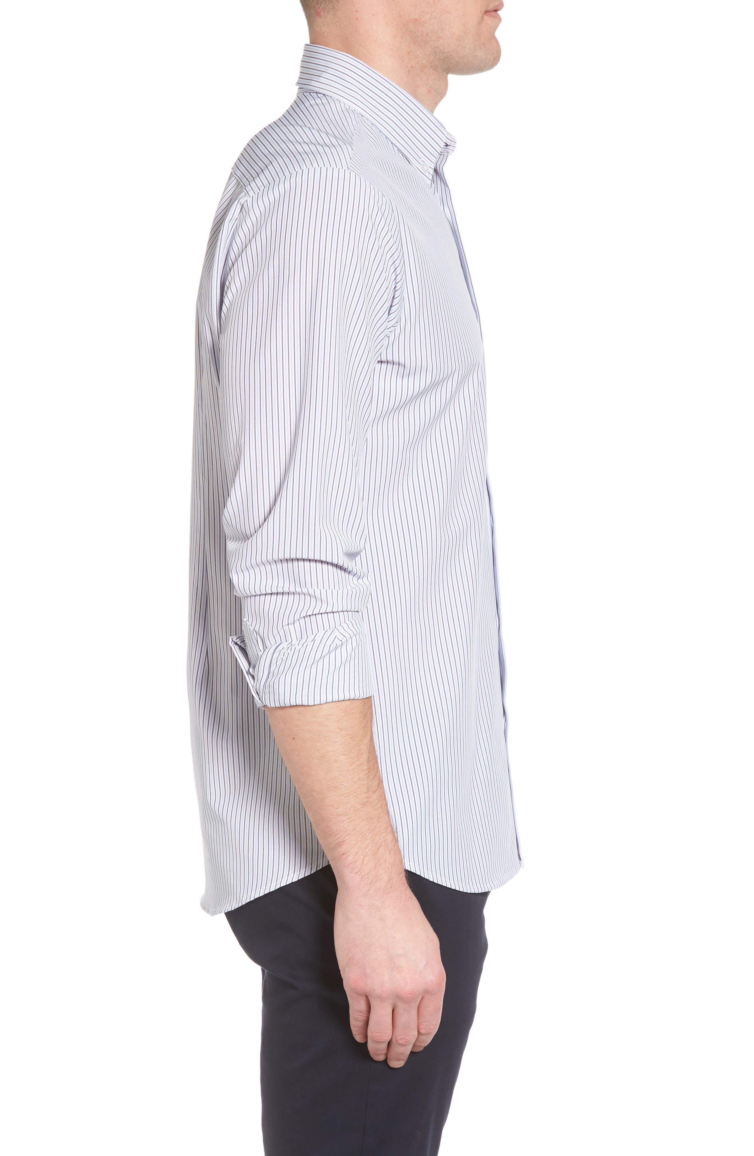 Callahan Stripe Sport Shirt,                             Alternate thumbnail 3, color,                             477