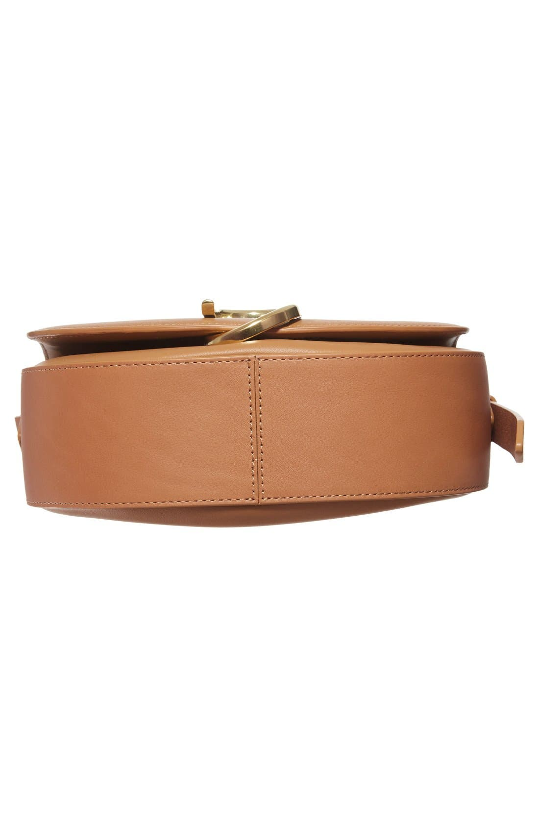 Alix Leather Saddle Bag,                             Alternate thumbnail 17, color,