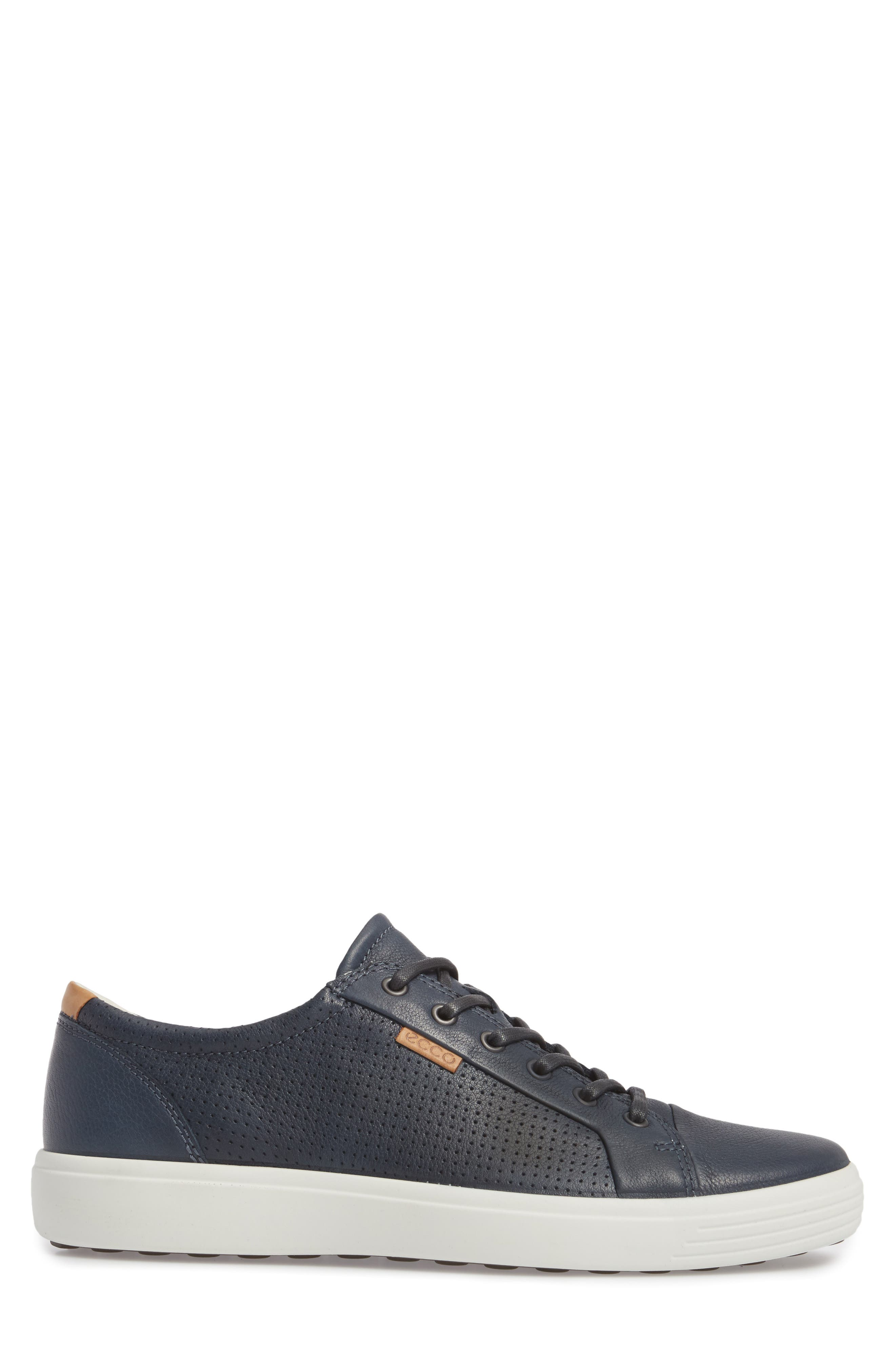 'Soft 7' Sneaker,                             Alternate thumbnail 3, color,                             NAVY LEATHER