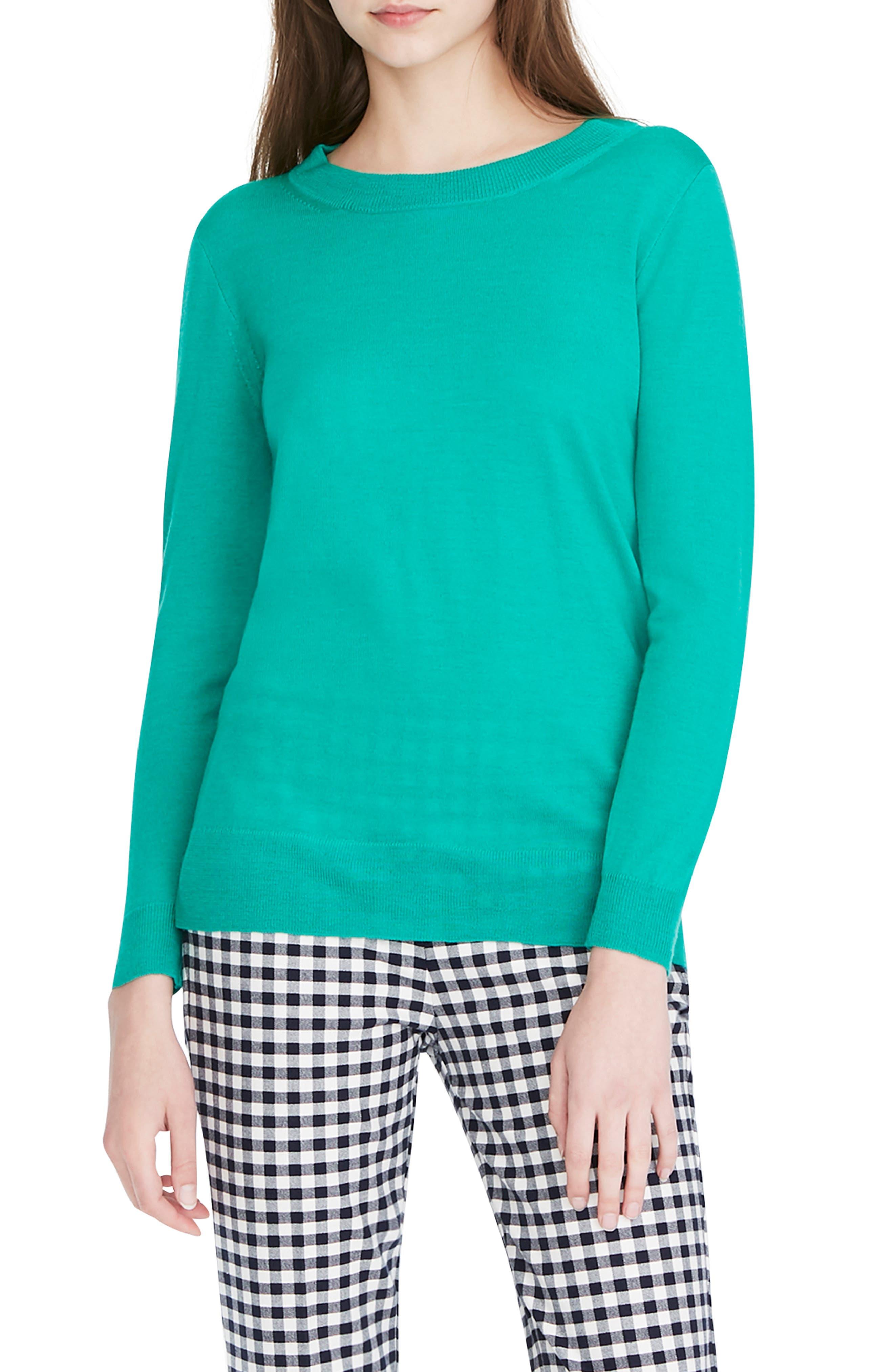 Plus Size J.crew Tippi Merino Wool Sweater, Size - Green