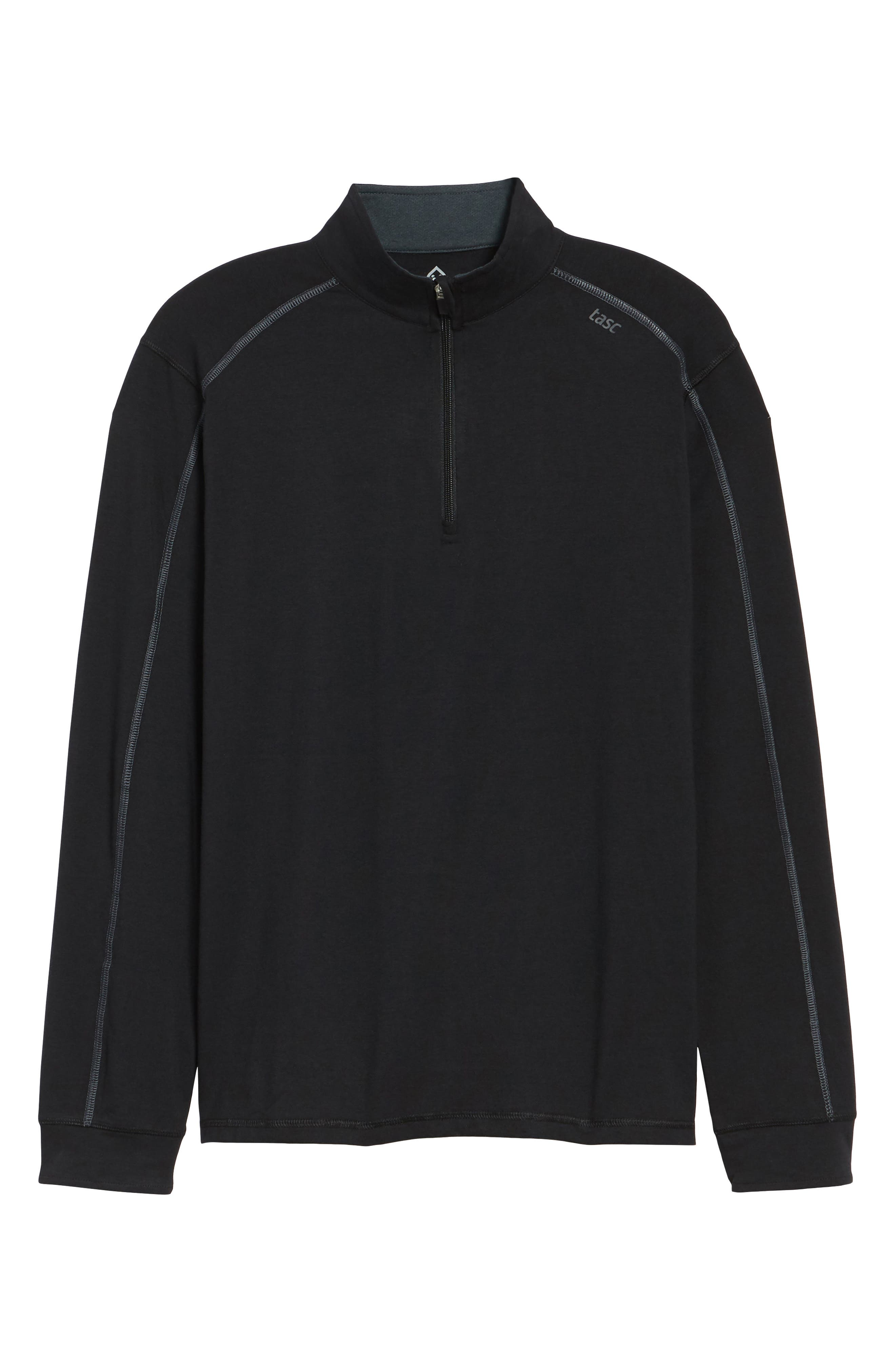 Carrollton Quarter Zip Sweatshirt,                             Alternate thumbnail 6, color,                             BLACK/ GUNMETAL