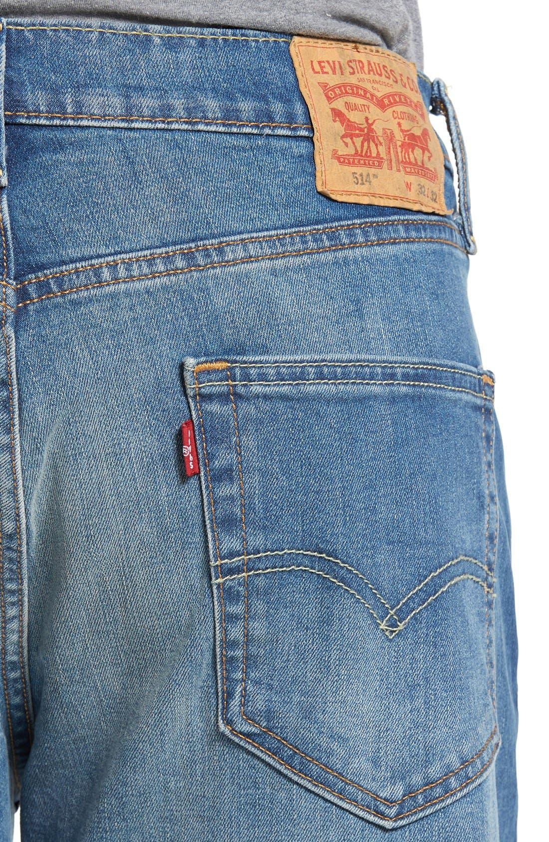 514<sup>™</sup> Straight Leg Jeans,                             Alternate thumbnail 3, color,                             HAGGARD