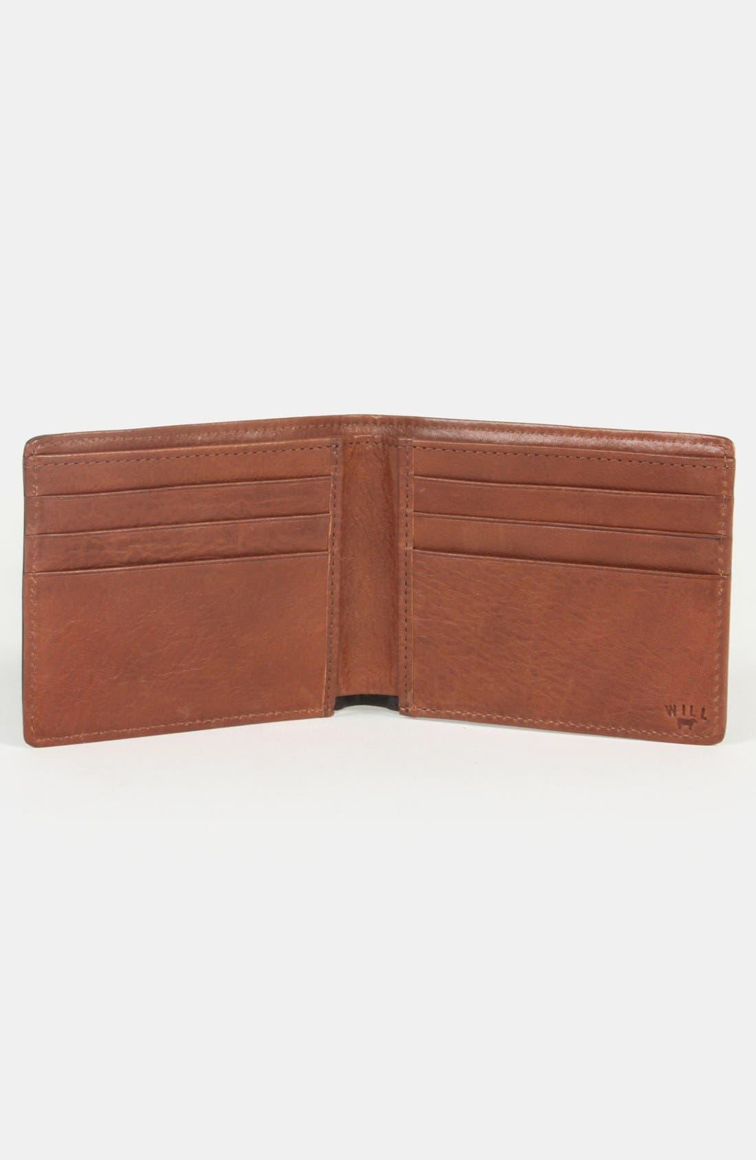 WILL LEATHER GOODS,                             'Barnard' Wallet,                             Alternate thumbnail 4, color,                             001