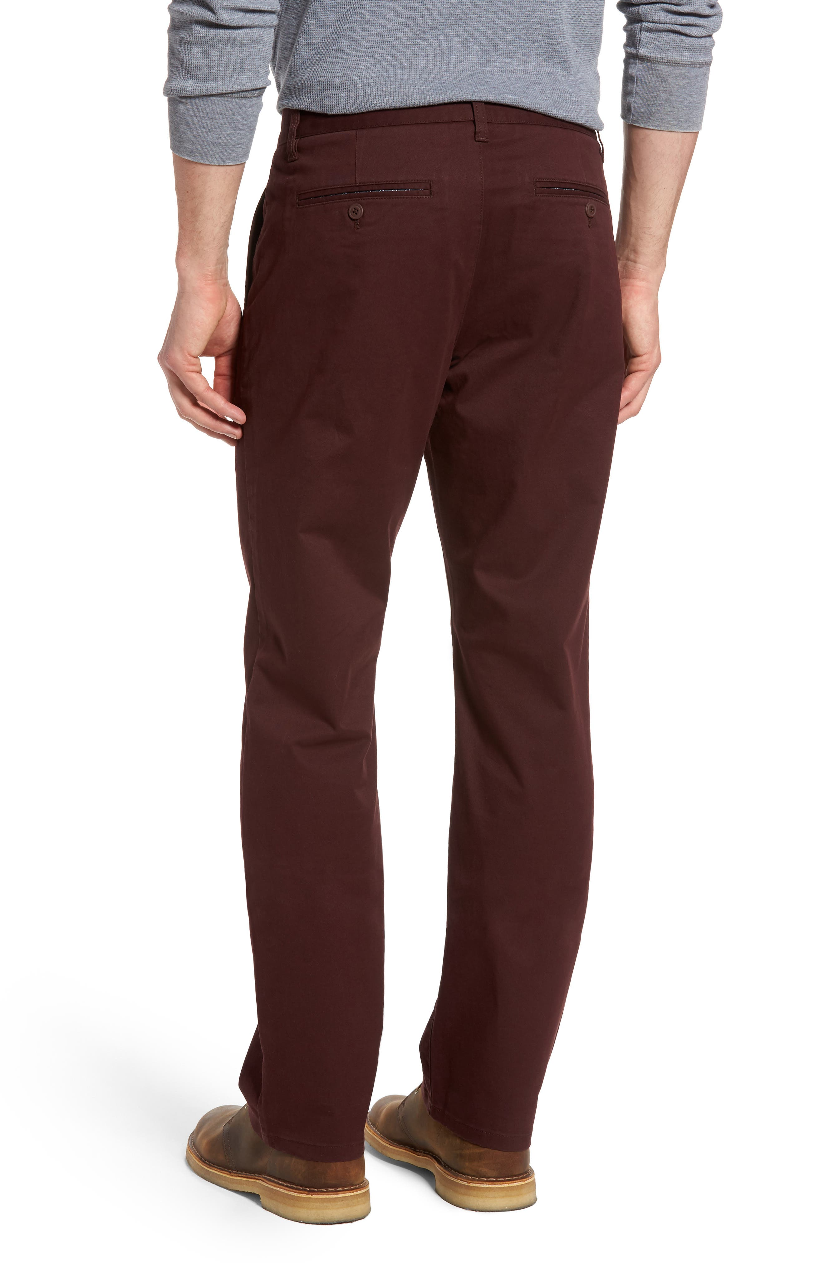 Straight Leg Stretch Washed Chinos,                             Alternate thumbnail 8, color,