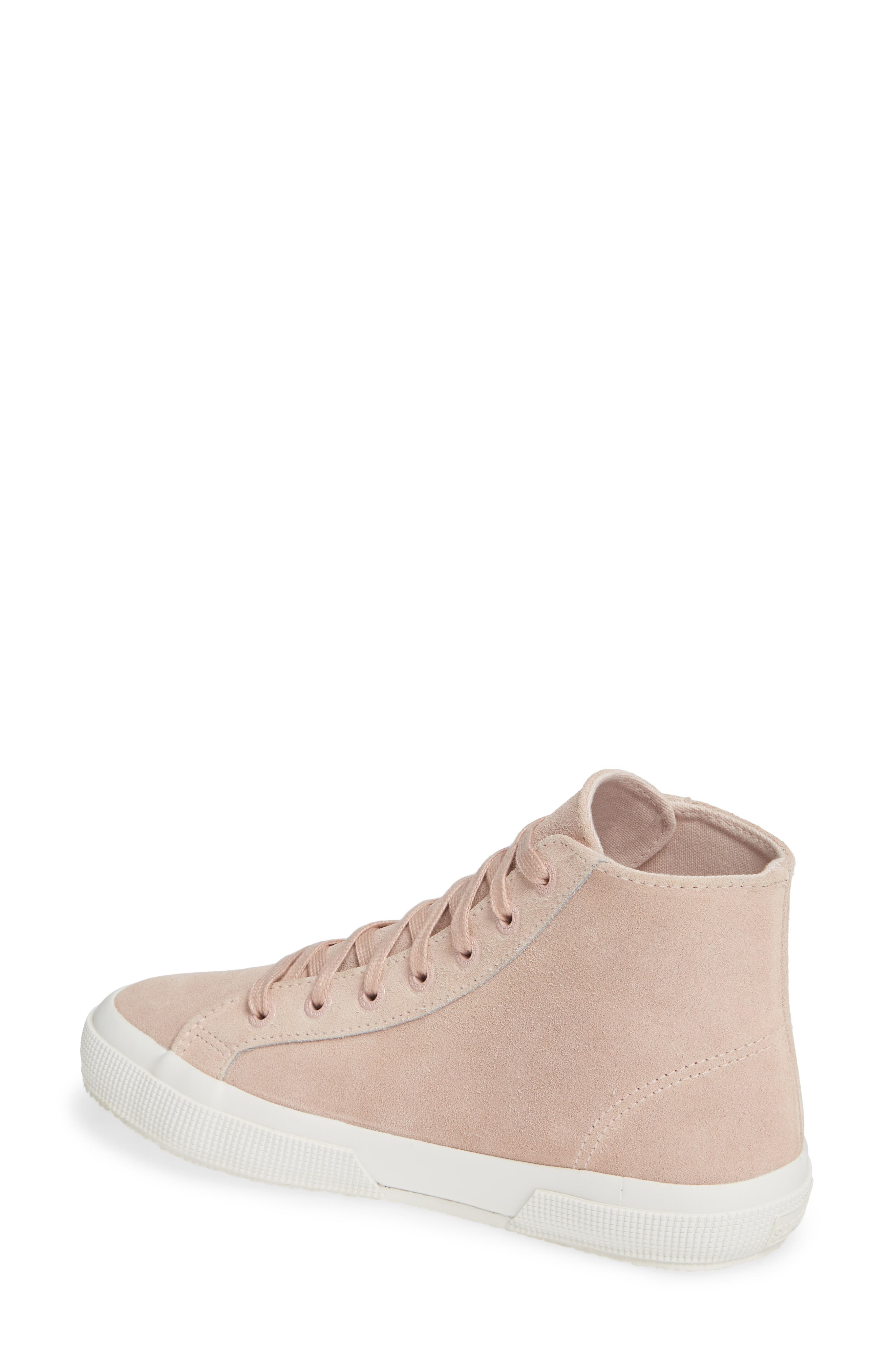 2795 High Top Sneaker,                             Alternate thumbnail 2, color,                             ROSE SUEDE