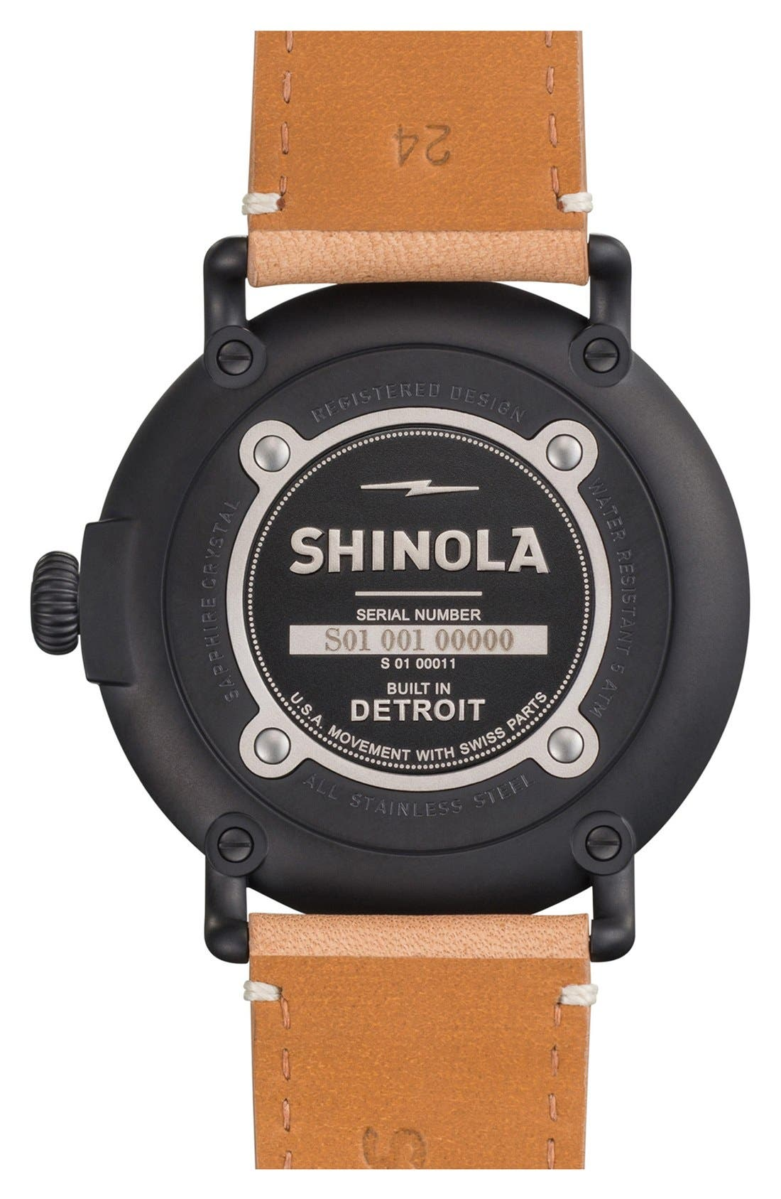 'The Runwell' Leather Strap Watch, 47mm,                             Alternate thumbnail 51, color,